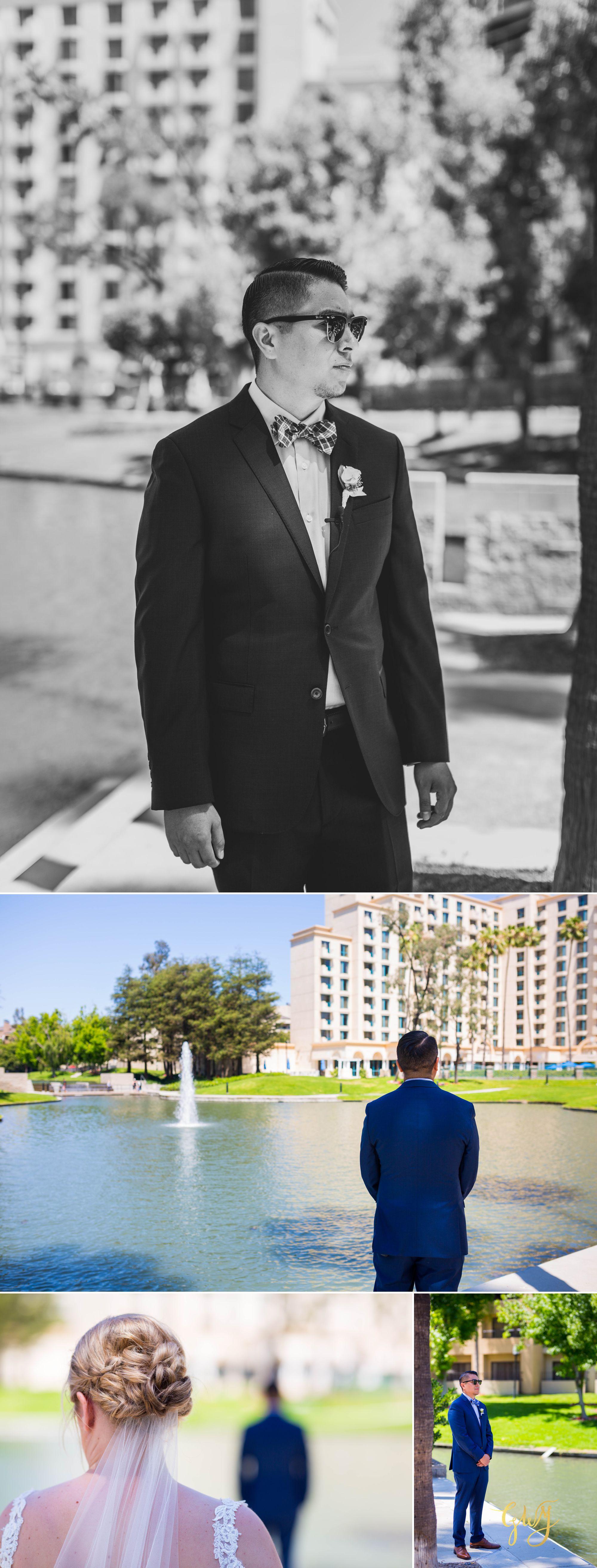 Javier + Kari Avenue of the Arts First Look Vintage Rose Wedding Ceremony Reception by Glass Woods Media 5.jpg