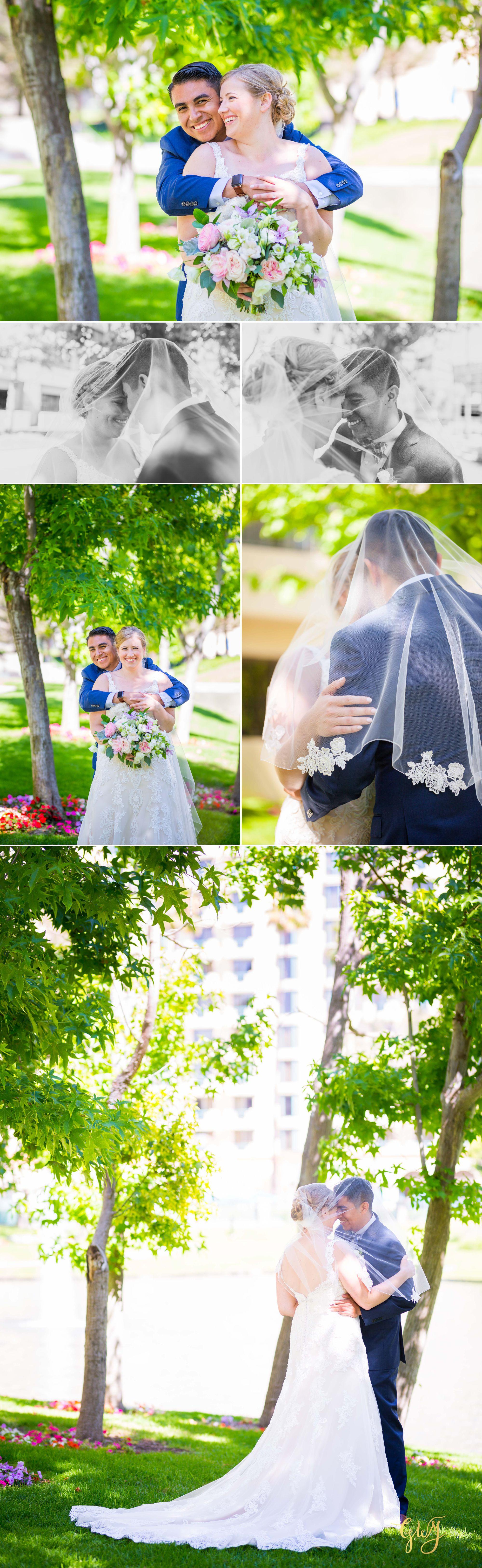 Javier + Kari Avenue of the Arts First Look Vintage Rose Wedding Ceremony Reception by Glass Woods Media 12.jpg