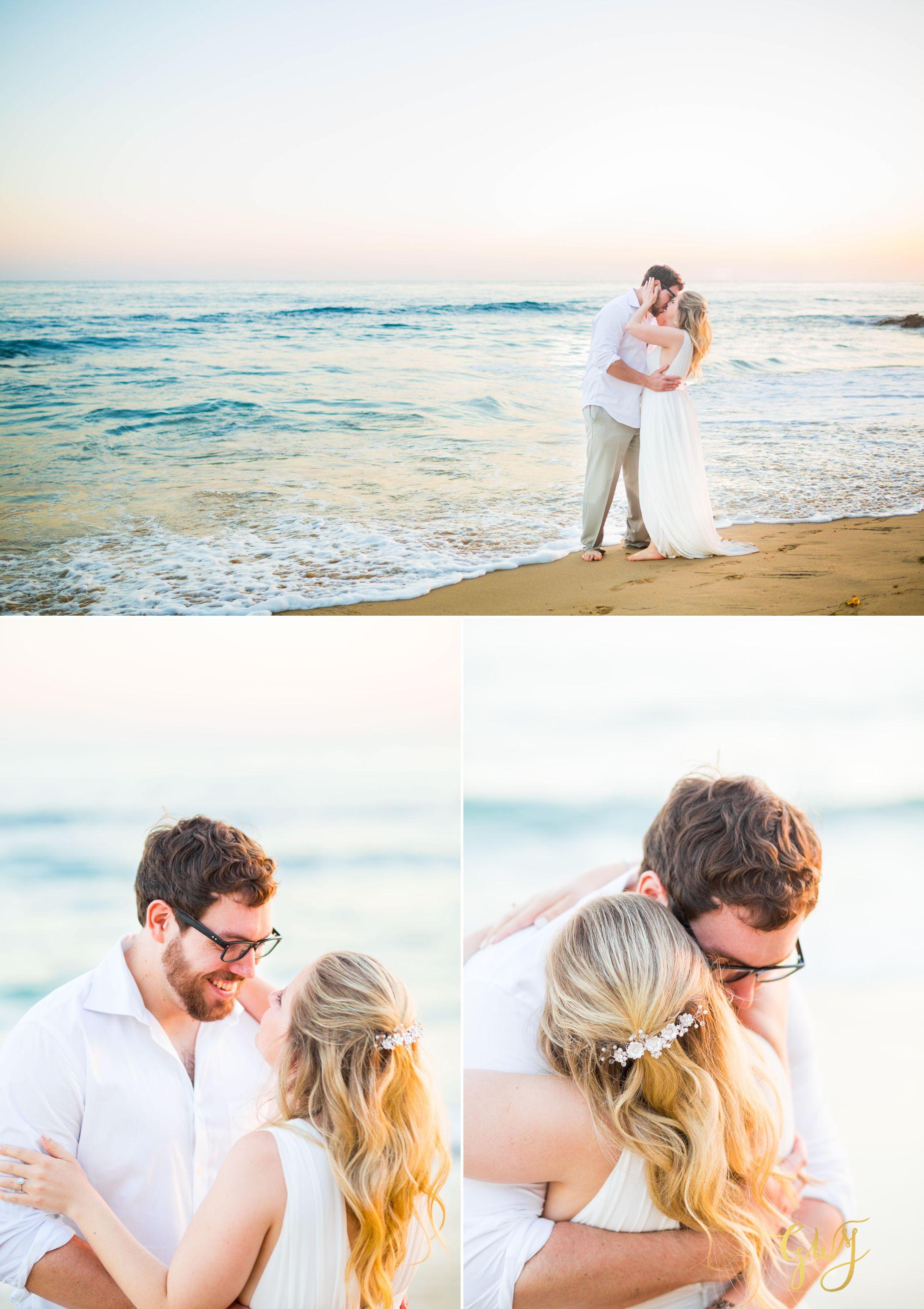 Amanda + Joe Reef Point Crystal Cove Newport Beach Sunset Romantic Intimate Elopement by Glass Woods Media 18.jpg