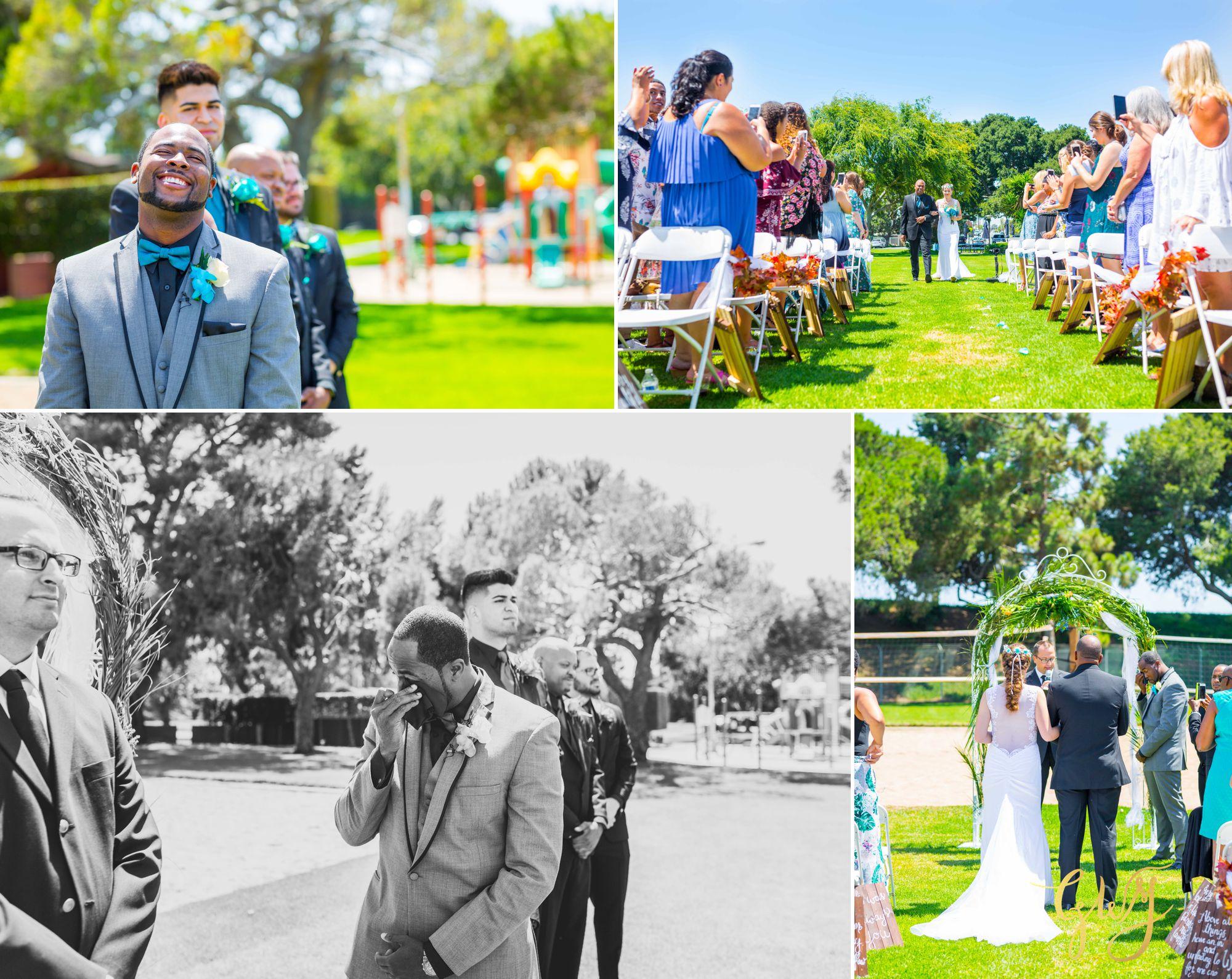 Rebecca + Torand El Segundo Chevron Employee Park Summer Barbados Bajan Wedding by Glass Woods Media 2.jpg