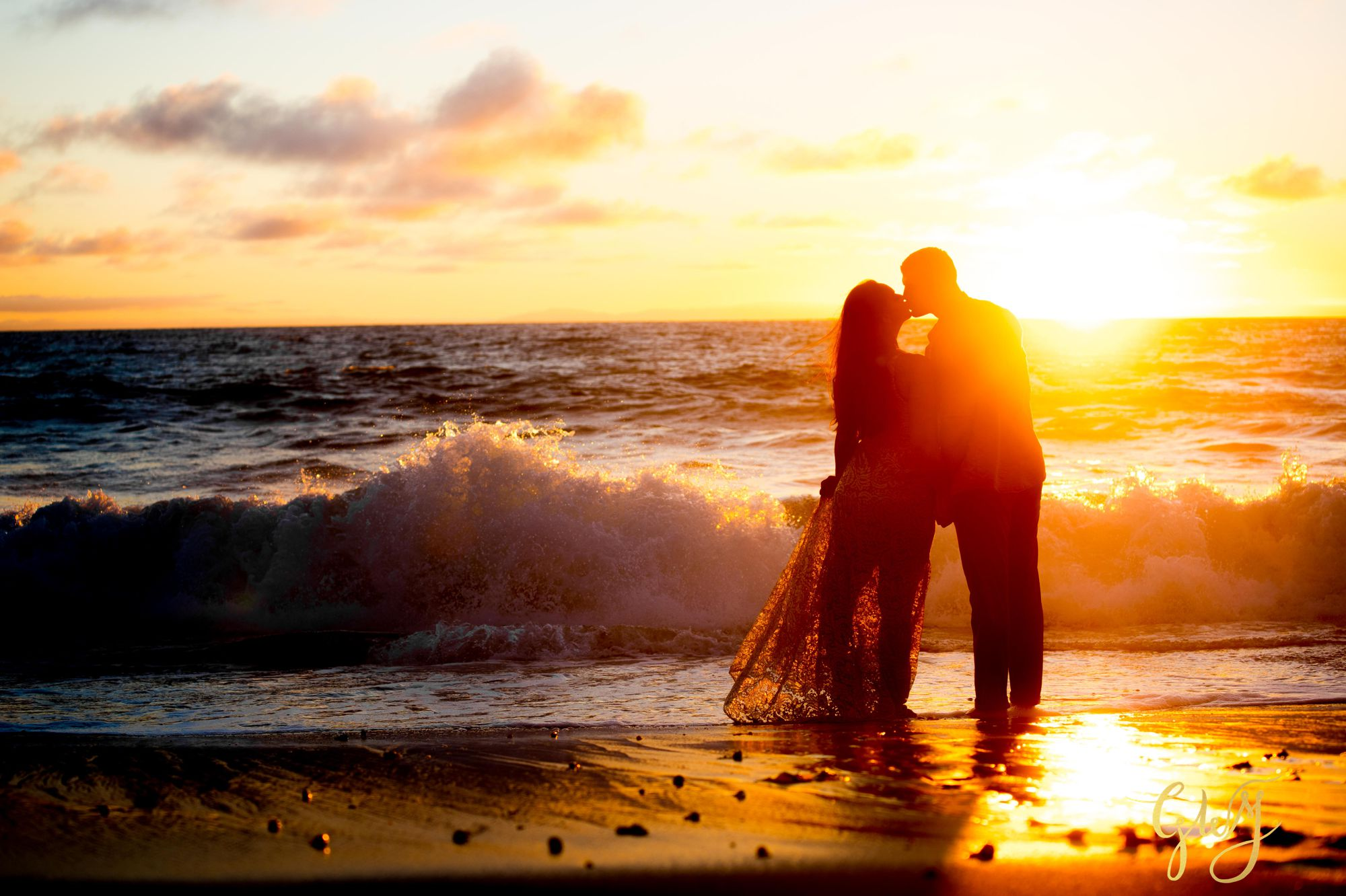 Alejandro + Rachel Mission San Juan Capistrano Strands Beach Dana Point Sunset Engagement by Glass Woods Media 17.jpg