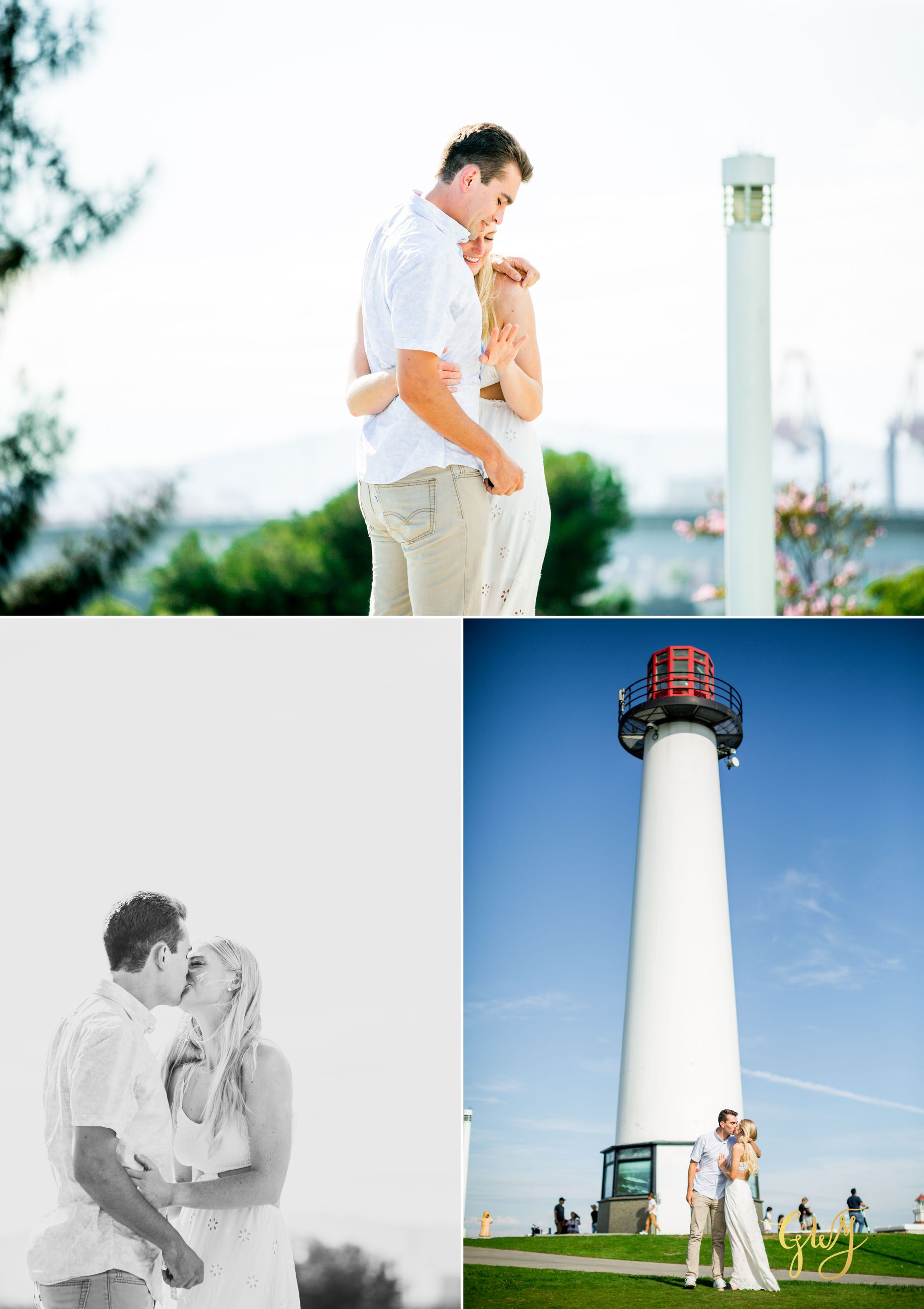 Marshall + Reegan Lion Lighthouse Long Beach Summer Proposal by Glass Woods Media 5.jpg
