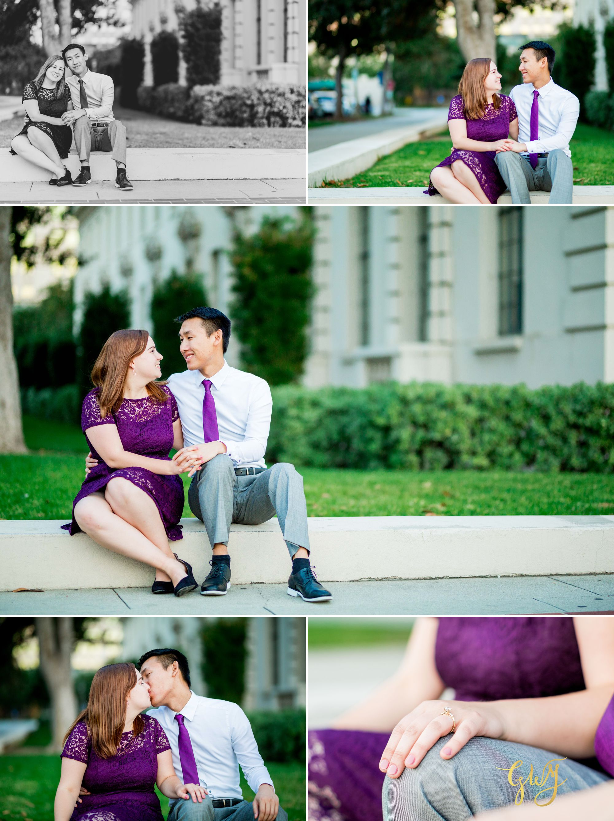 Keira + Michael Los Angeles Arboretum Pasadena City Hall Engagement 14.jpg