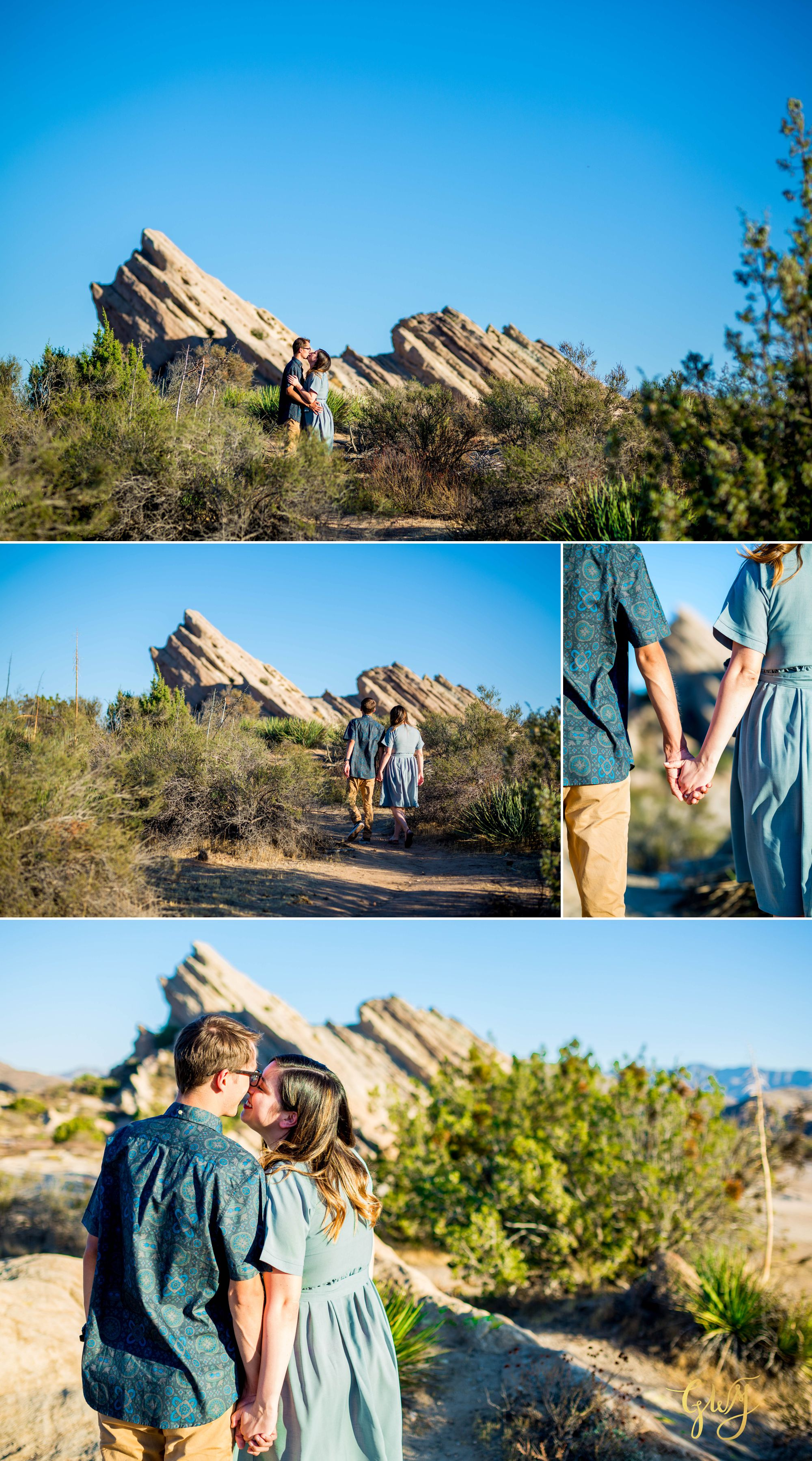 KJ + Maddie Vasquez Rocks Adventurous Hiking Outdoors Engagement Session by Glass Woods Media 1.jpg