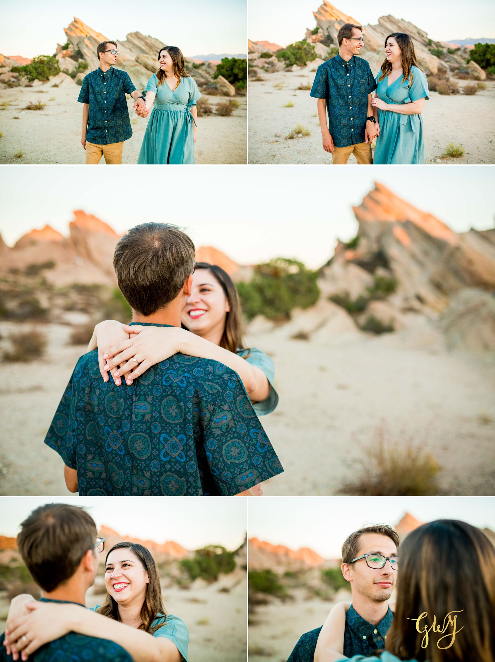 KJ + Maddie Vasquez Rocks Adventurous Hiking Outdoors Engagement Session by Glass Woods Media 11.jpg
