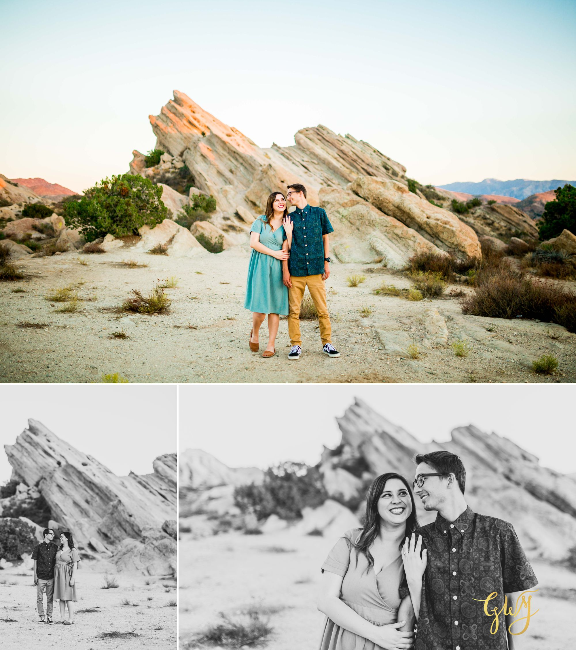 KJ + Maddie Vasquez Rocks Adventurous Hiking Outdoors Engagement Session by Glass Woods Media 12.jpg