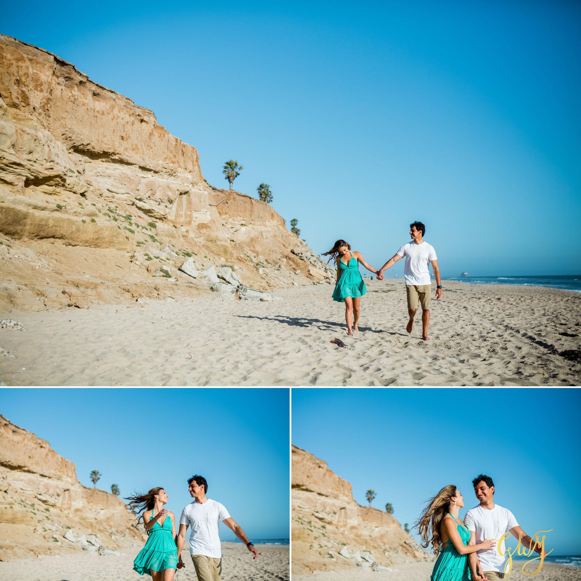 Felipe + Isabella Huntington Beach Summer Sunset Engagement Session by Glass Woods Media 1.jpg