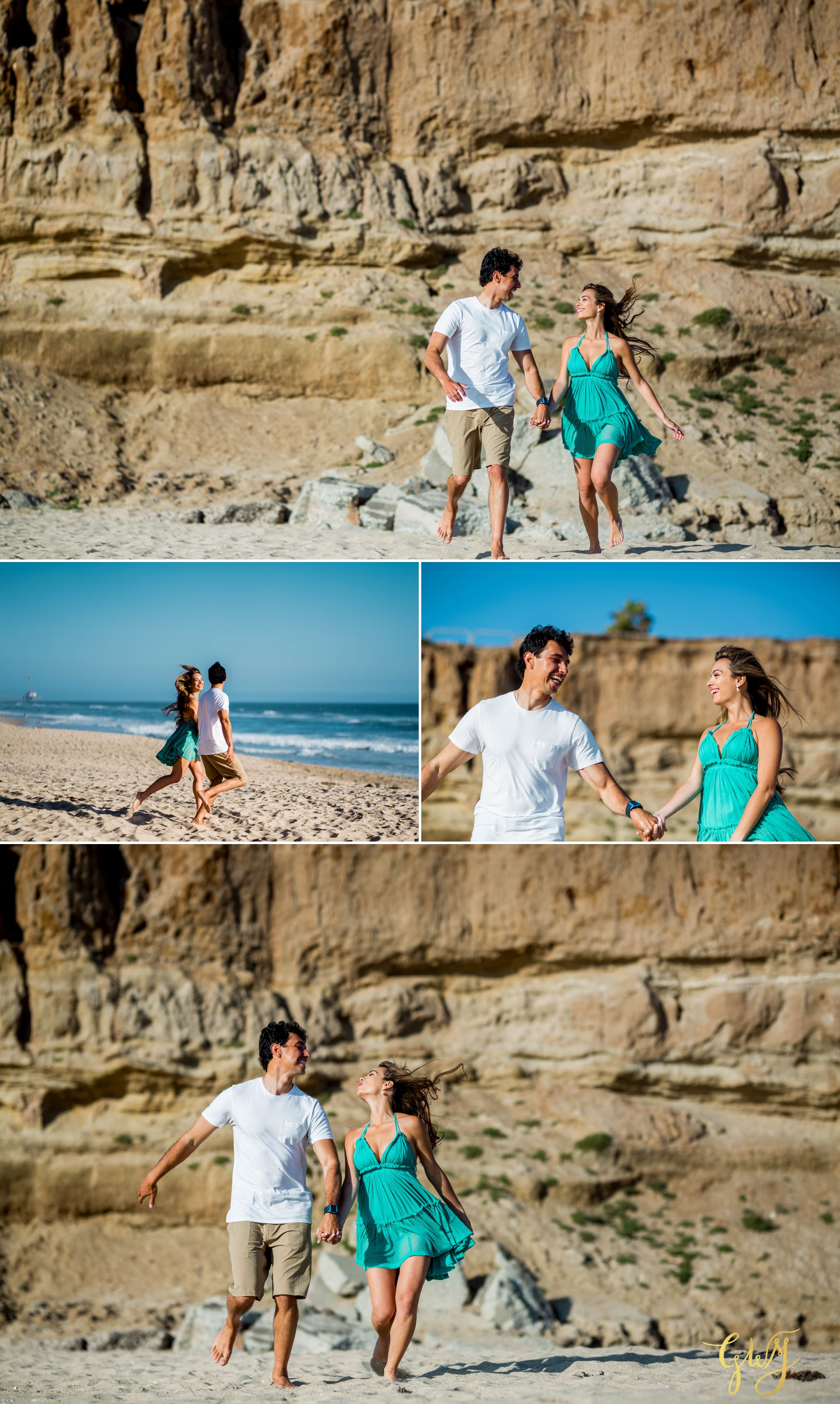 Felipe + Isabella Huntington Beach Summer Sunset Engagement Session by Glass Woods Media 5.jpg