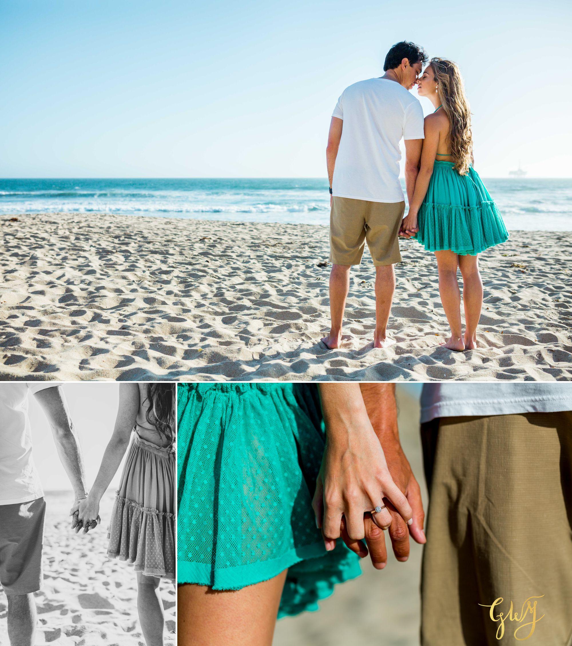 Felipe + Isabella Huntington Beach Summer Sunset Engagement Session by Glass Woods Media 7.jpg
