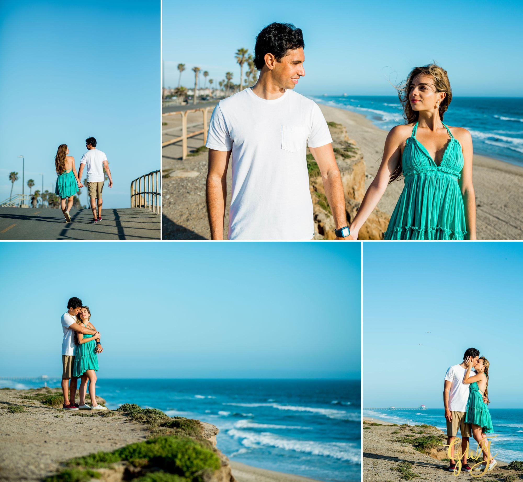 Felipe + Isabella Huntington Beach Summer Sunset Engagement Session by Glass Woods Media 9.jpg