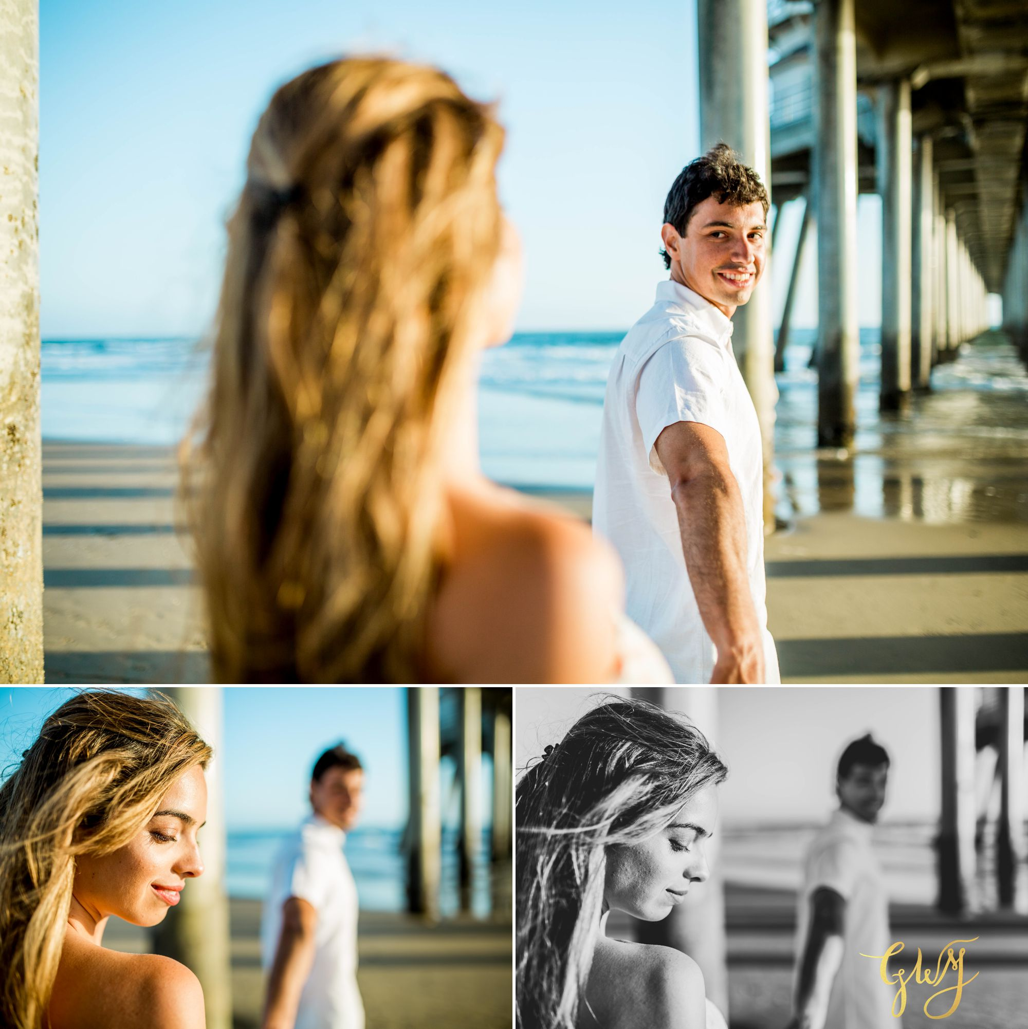 Felipe + Isabella Huntington Beach Summer Sunset Engagement Session by Glass Woods Media 14.jpg