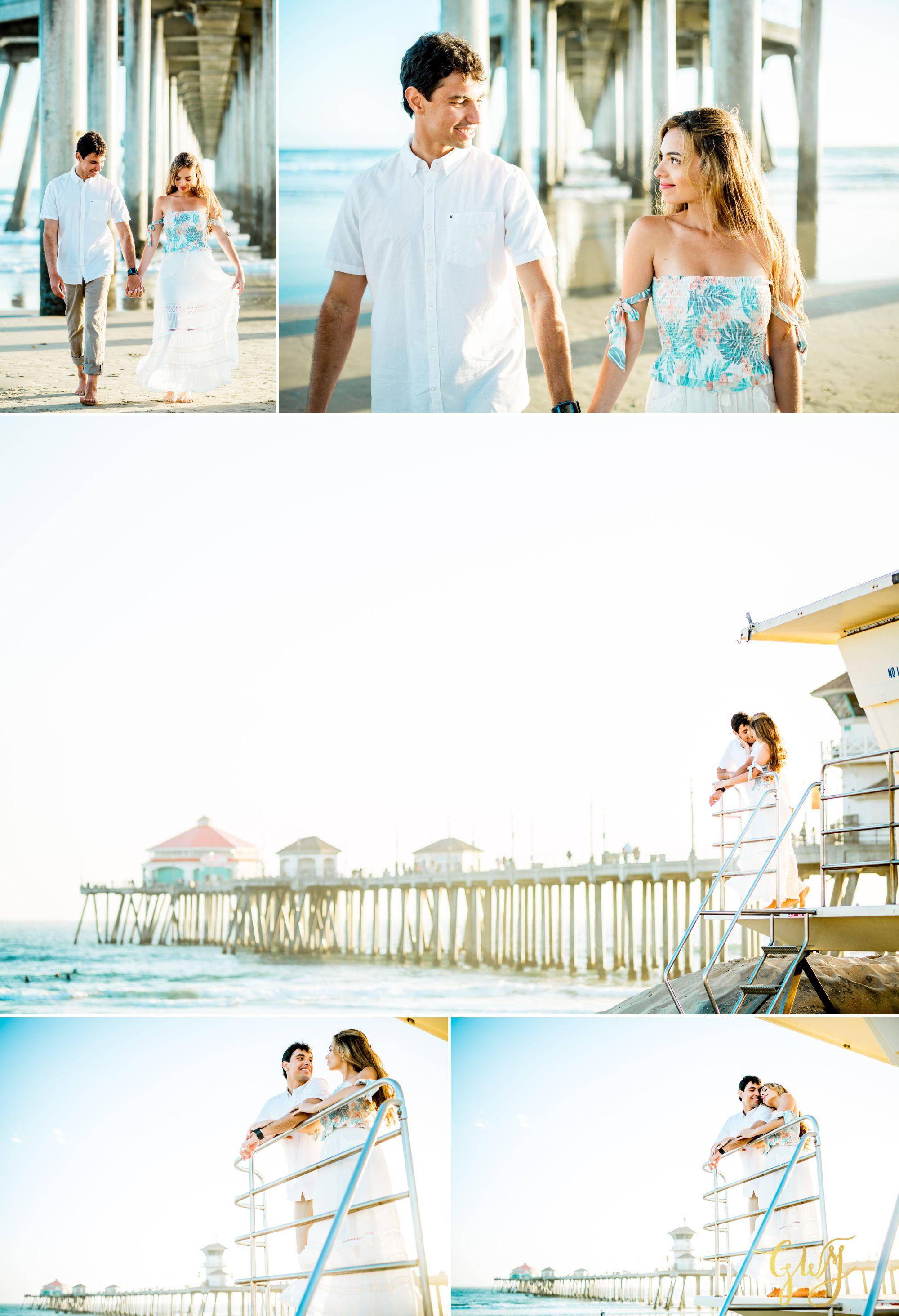 Felipe + Isabella Huntington Beach Summer Sunset Engagement Session by Glass Woods Media 18.jpg