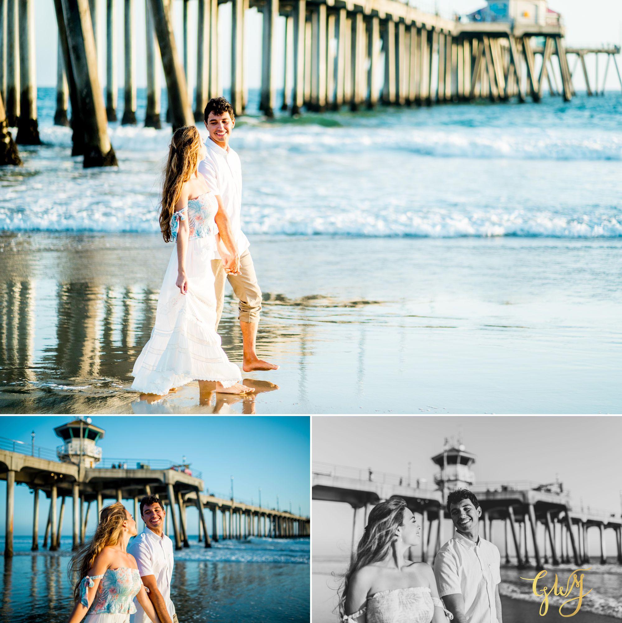 Felipe + Isabella Huntington Beach Summer Sunset Engagement Session by Glass Woods Media 21.jpg