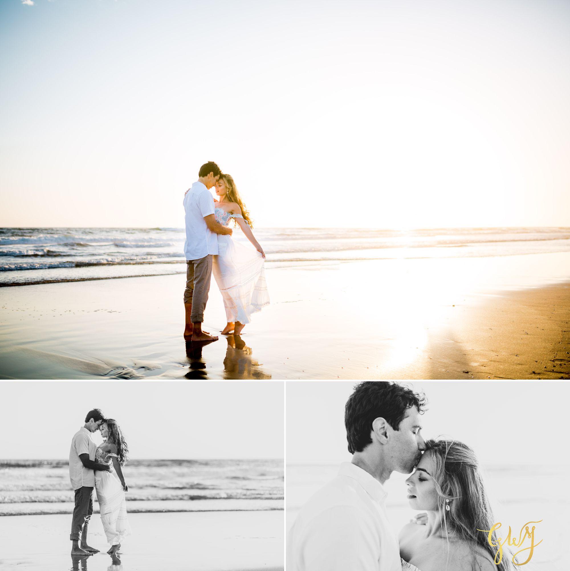 Felipe + Isabella Huntington Beach Summer Sunset Engagement Session by Glass Woods Media 22.jpg