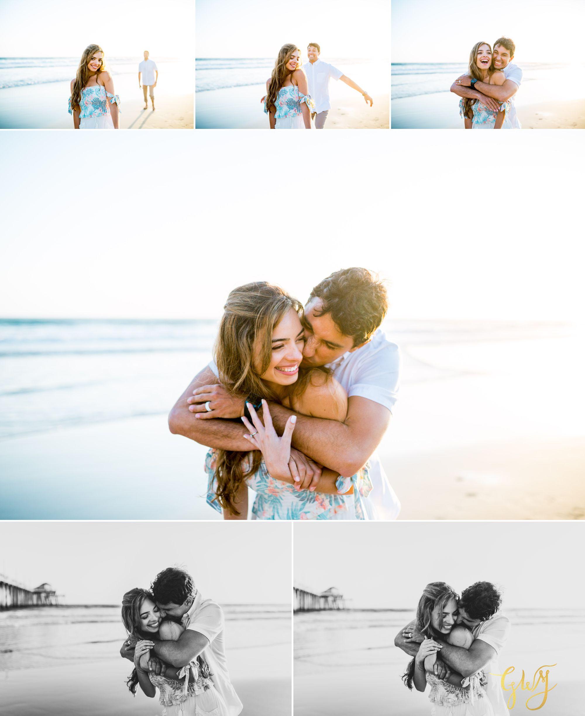 Felipe + Isabella Huntington Beach Summer Sunset Engagement Session by Glass Woods Media 23.jpg