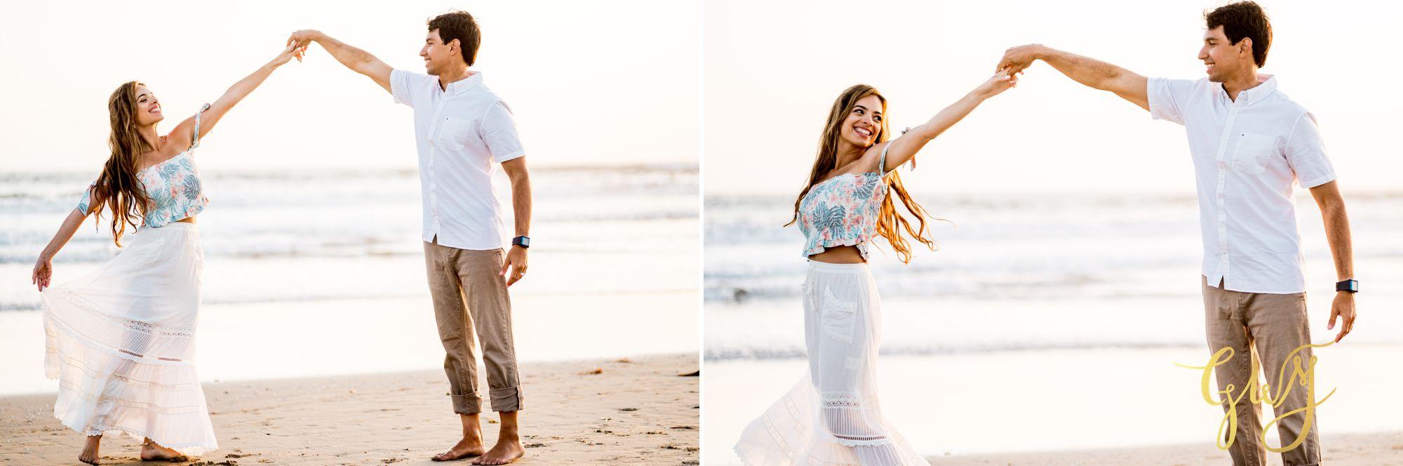 Felipe + Isabella Huntington Beach Summer Sunset Engagement Session by Glass Woods Media 27.jpg