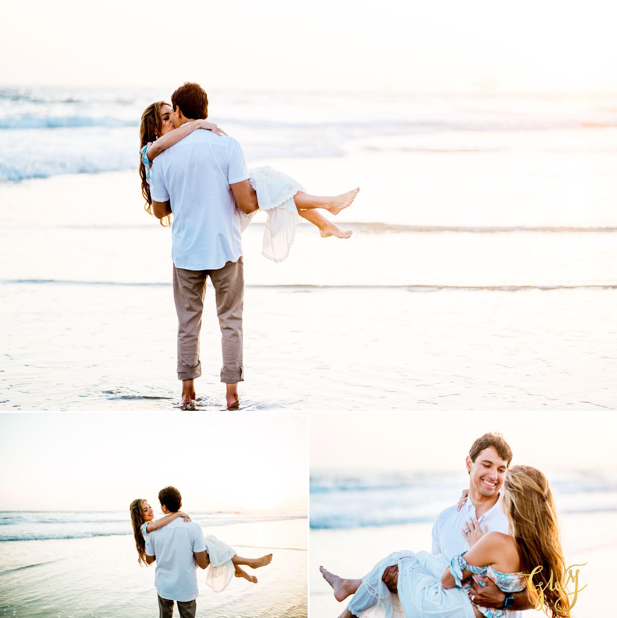 Felipe + Isabella Huntington Beach Summer Sunset Engagement Session by Glass Woods Media 29.jpg