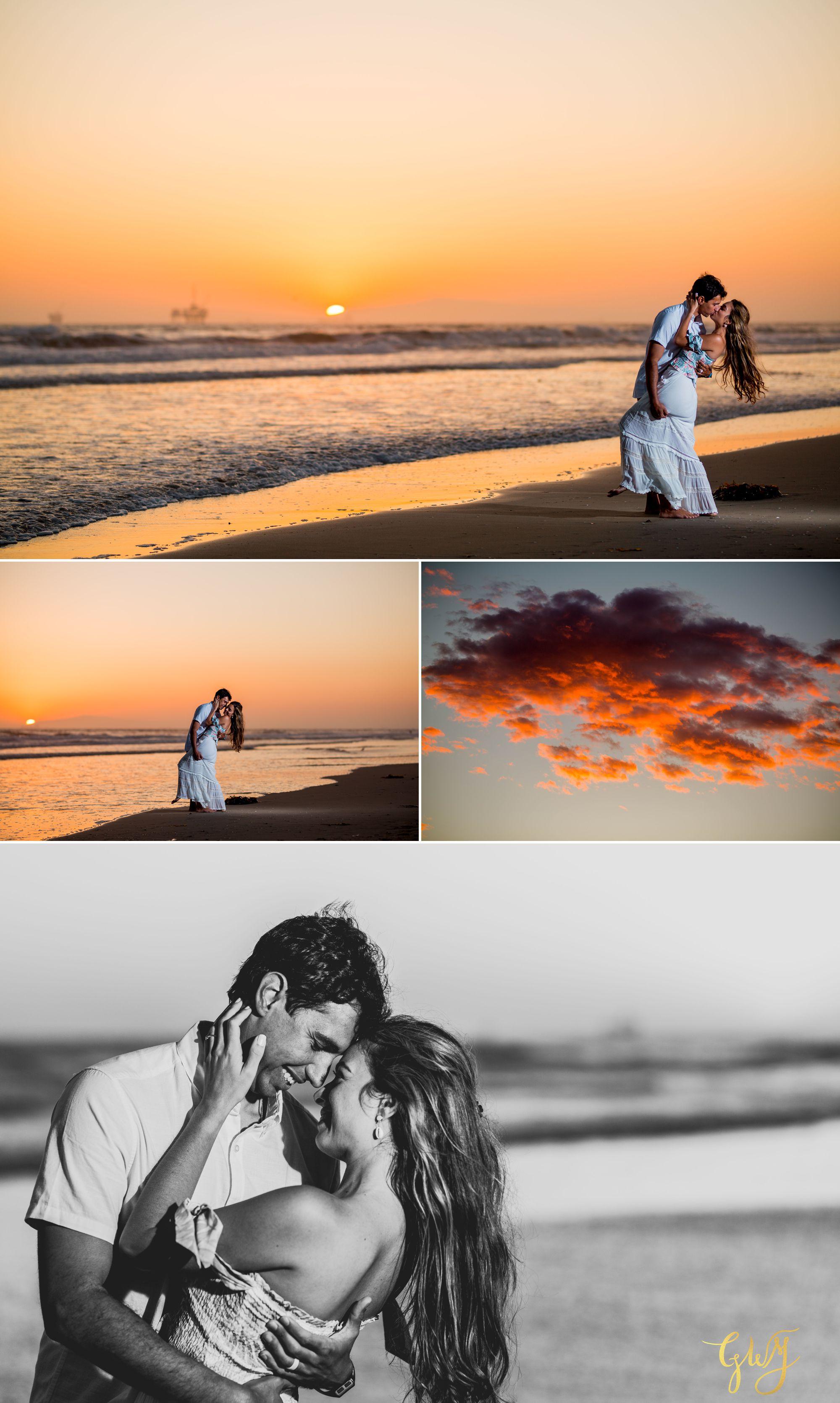 Felipe + Isabella Huntington Beach Summer Sunset Engagement Session by Glass Woods Media 30.jpg