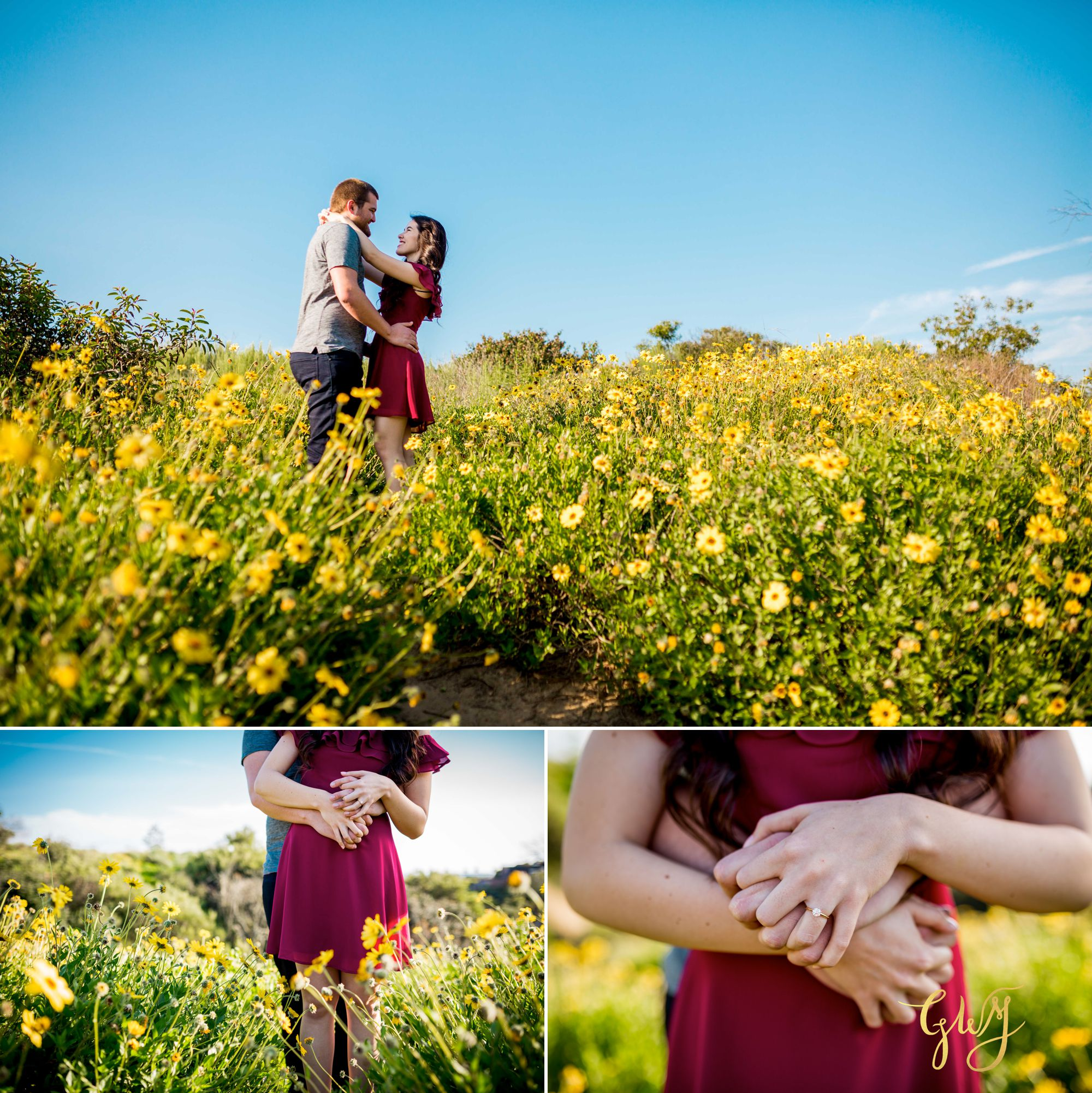 Ashley + Brandt California Super Bloom and Little Corona Del Mar Beach Engagement by Glass Woods Media 3.jpg