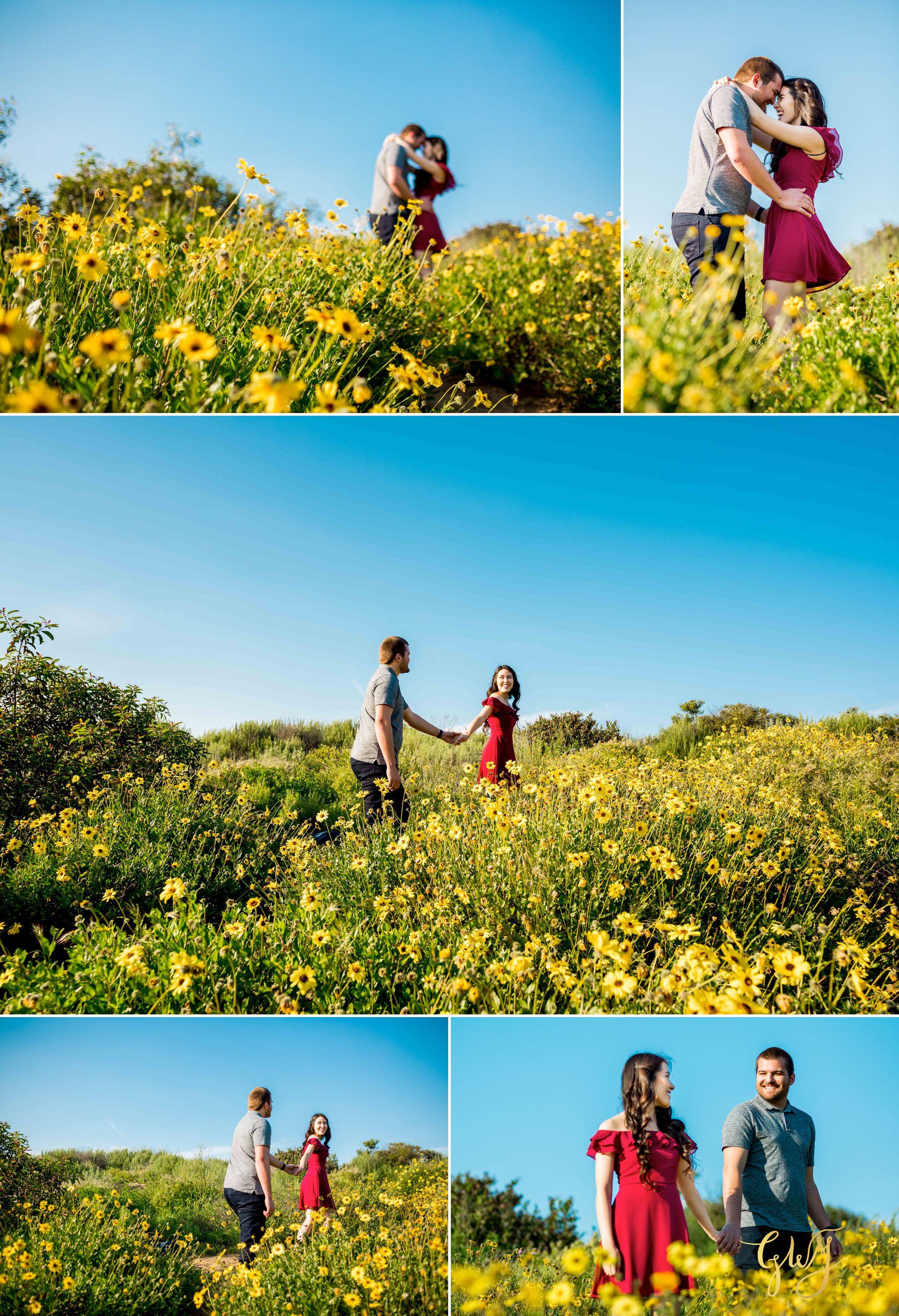 Ashley + Brandt California Super Bloom and Little Corona Del Mar Beach Engagement by Glass Woods Media 4.jpg