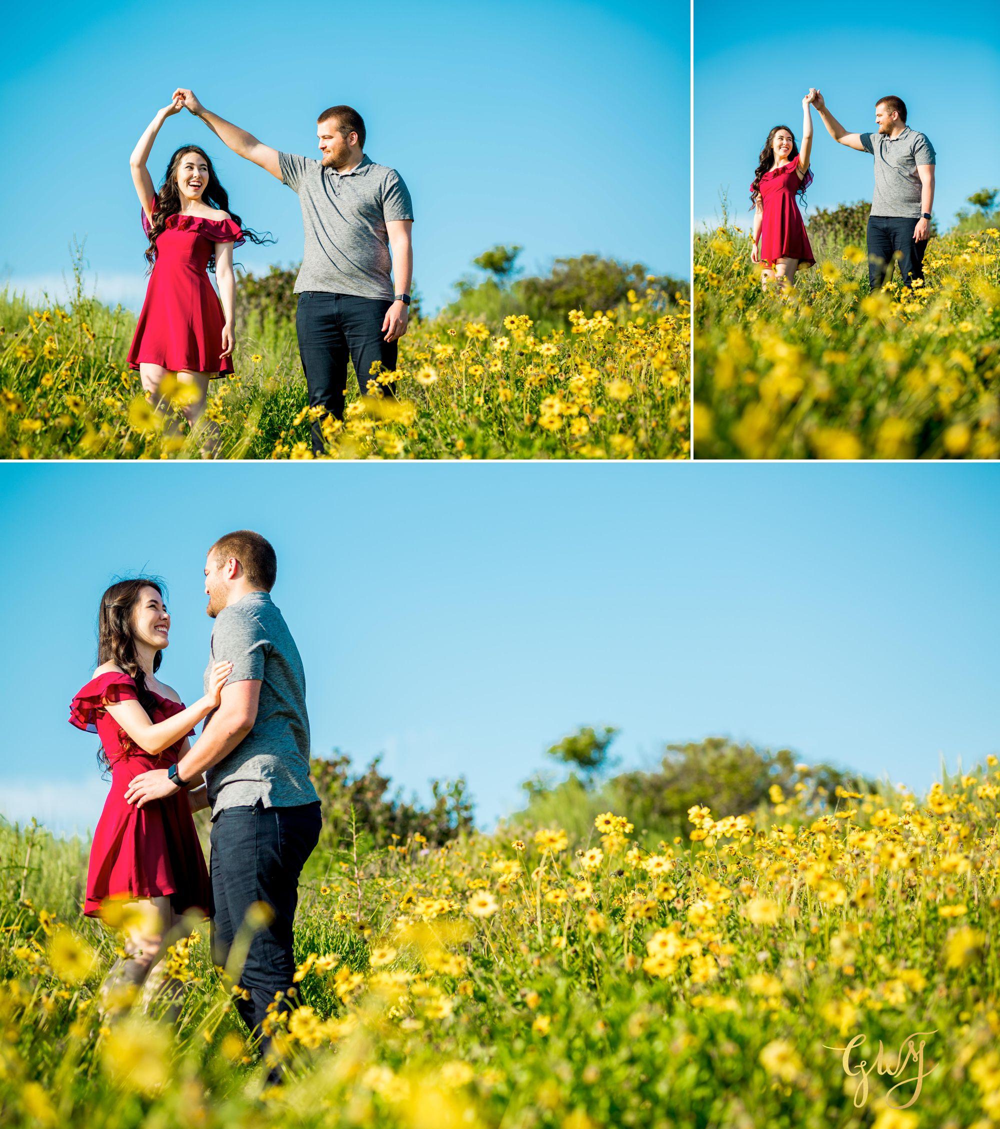 Ashley + Brandt California Super Bloom and Little Corona Del Mar Beach Engagement by Glass Woods Media 5.jpg