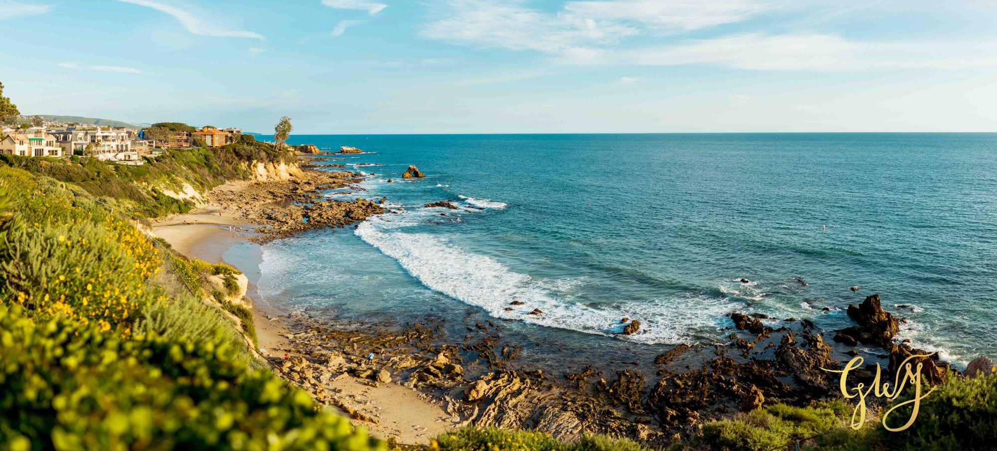 Ashley + Brandt California Super Bloom and Little Corona Del Mar Beach Engagement by Glass Woods Media 9.jpg