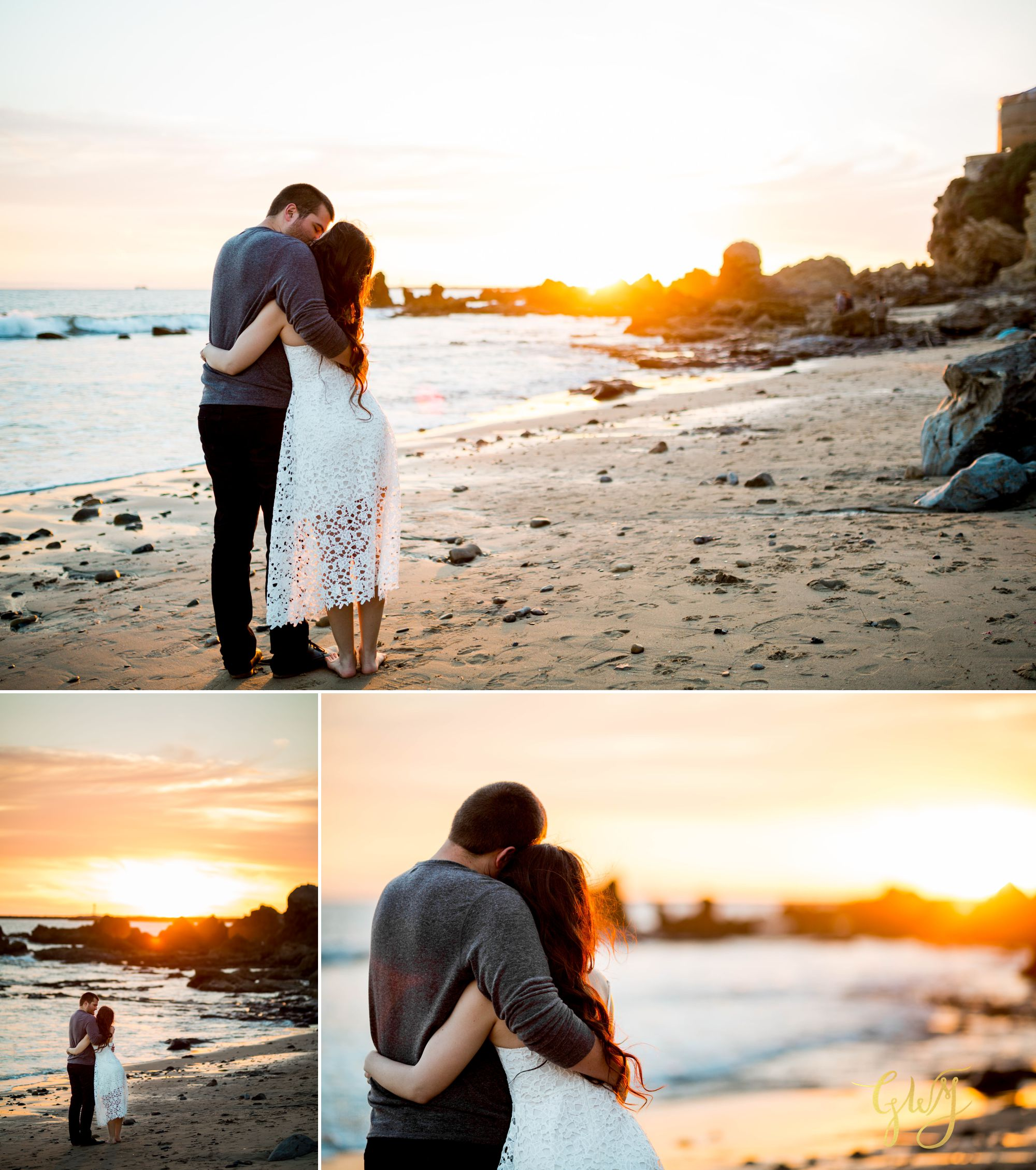 Ashley + Brandt California Super Bloom and Little Corona Del Mar Beach Engagement by Glass Woods Media 16.jpg