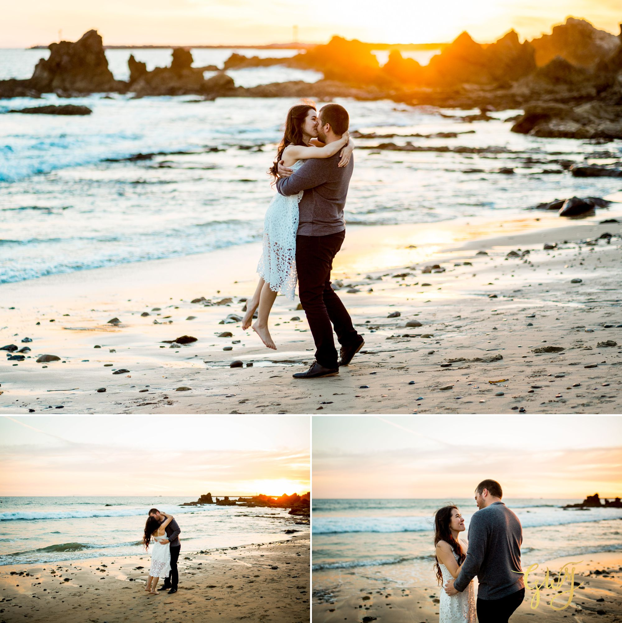 Ashley + Brandt California Super Bloom and Little Corona Del Mar Beach Engagement by Glass Woods Media 17.jpg