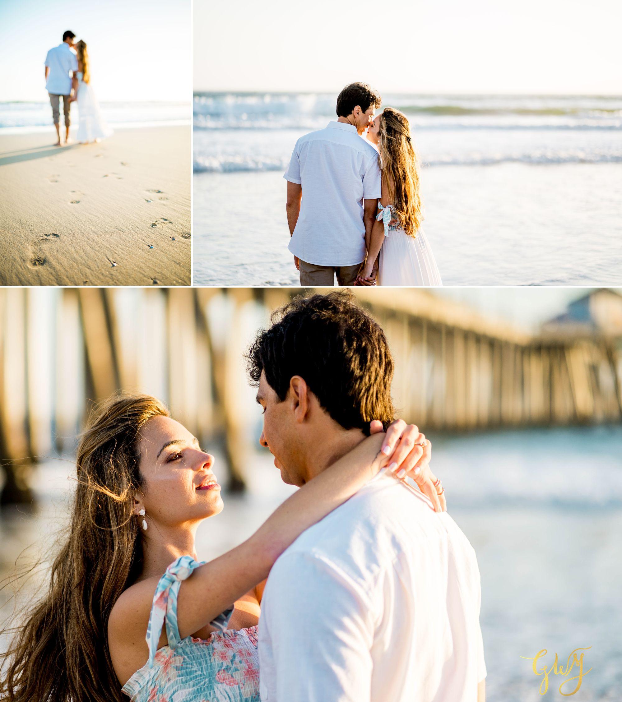 Felipe + Isabella Huntington Beach Summer Sunset Engagement Session by Glass Woods Media 15.jpg
