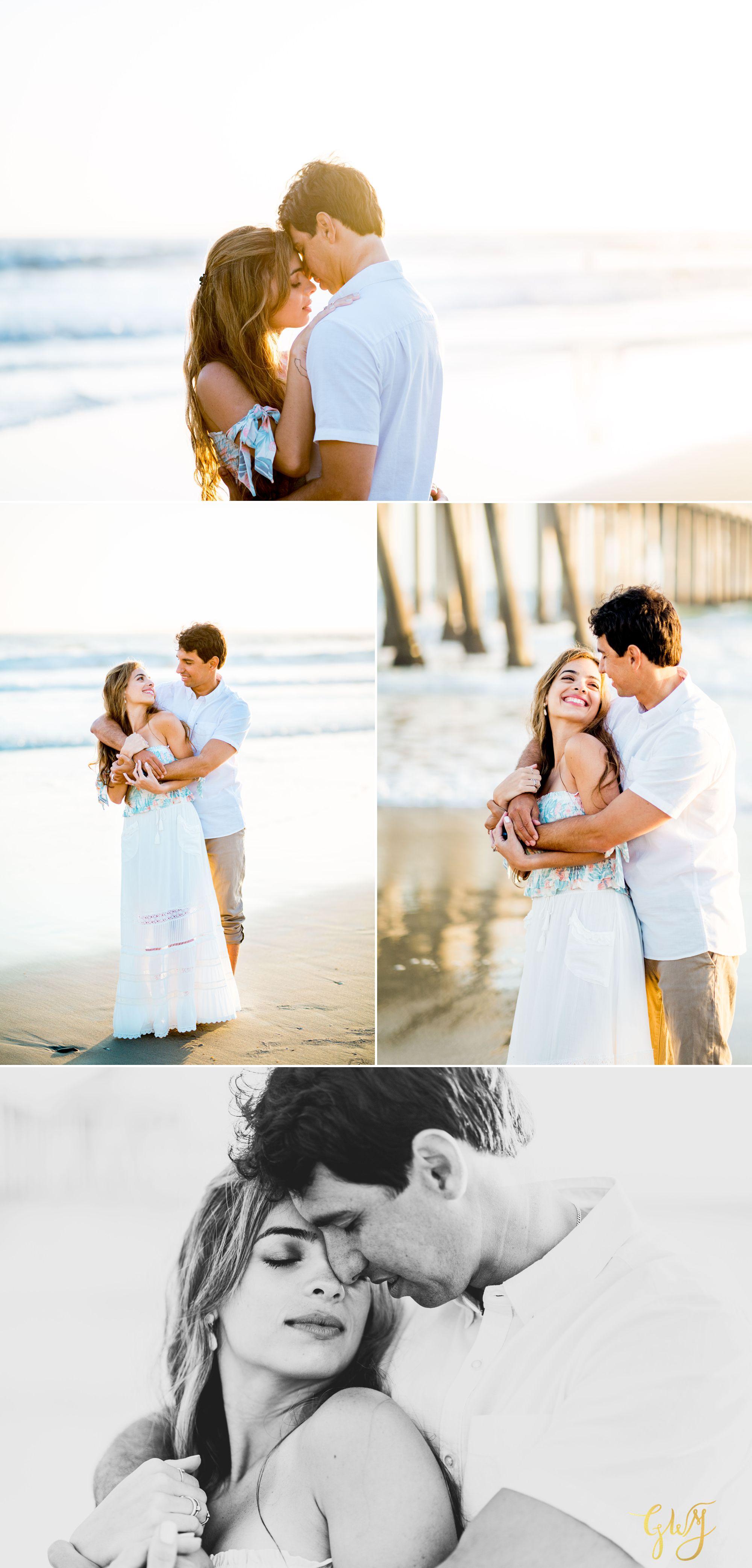 Felipe + Isabella Huntington Beach Summer Sunset Engagement Session by Glass Woods Media 20.jpg