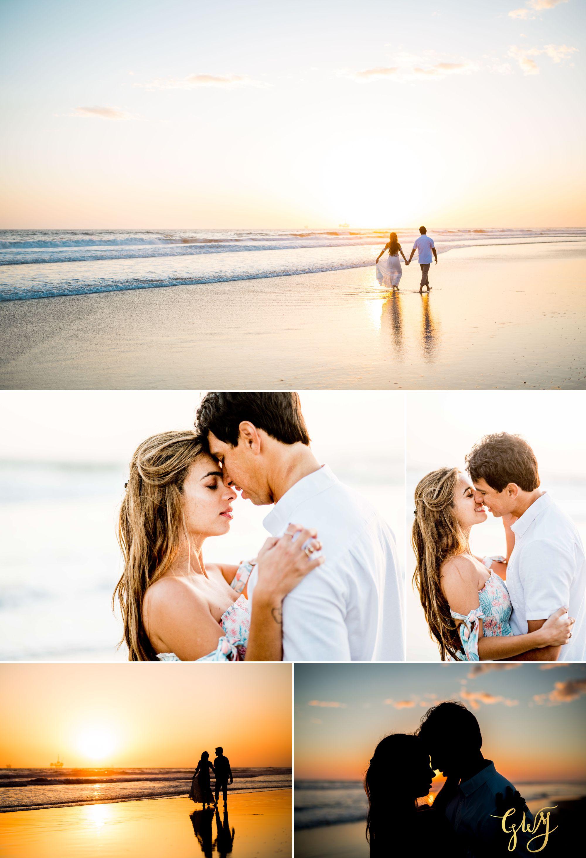 Felipe + Isabella Huntington Beach Summer Sunset Engagement Session by Glass Woods Media 24.jpg