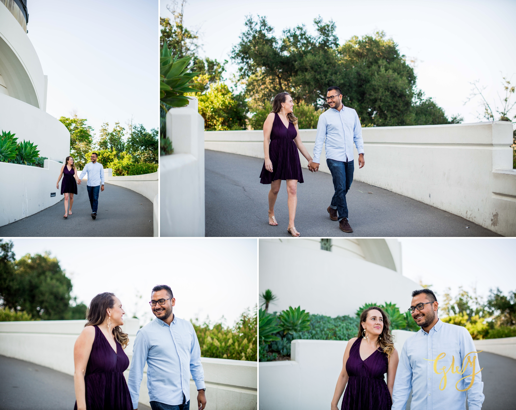 Emily + Gilbert's Griffith Observatory LA Dreamy Sunset Engagement Session by Glass Woods Media 3.jpg
