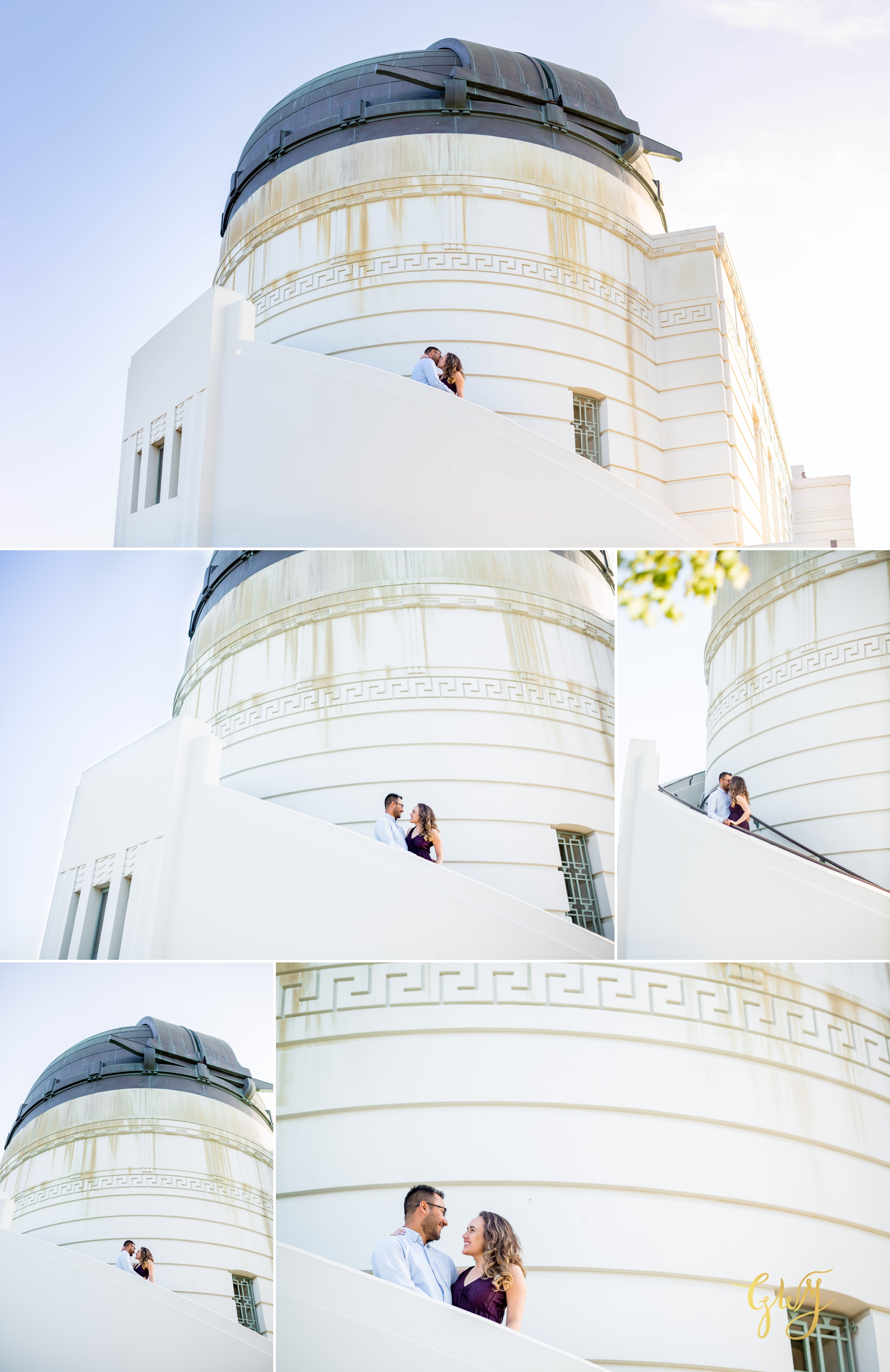Emily + Gilbert's Griffith Observatory LA Dreamy Sunset Engagement Session by Glass Woods Media 5.jpg