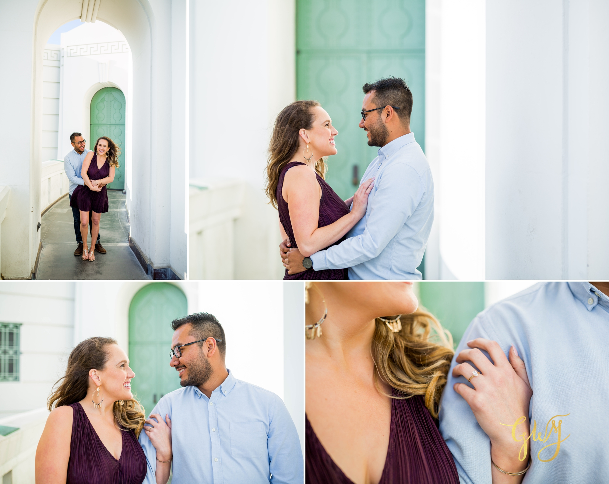 Emily + Gilbert's Griffith Observatory LA Dreamy Sunset Engagement Session by Glass Woods Media 7.jpg