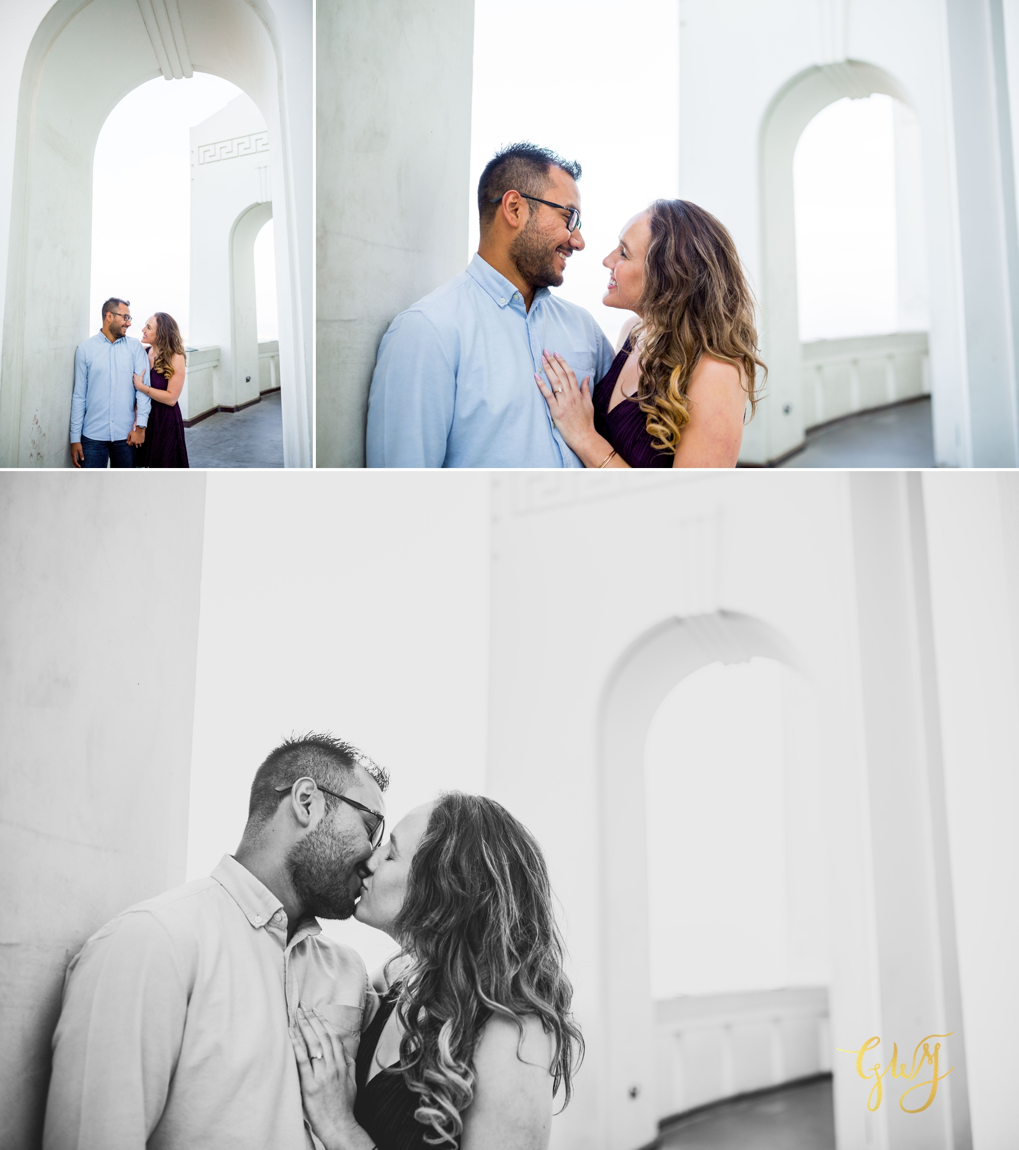 Emily + Gilbert's Griffith Observatory LA Dreamy Sunset Engagement Session by Glass Woods Media 8.jpg