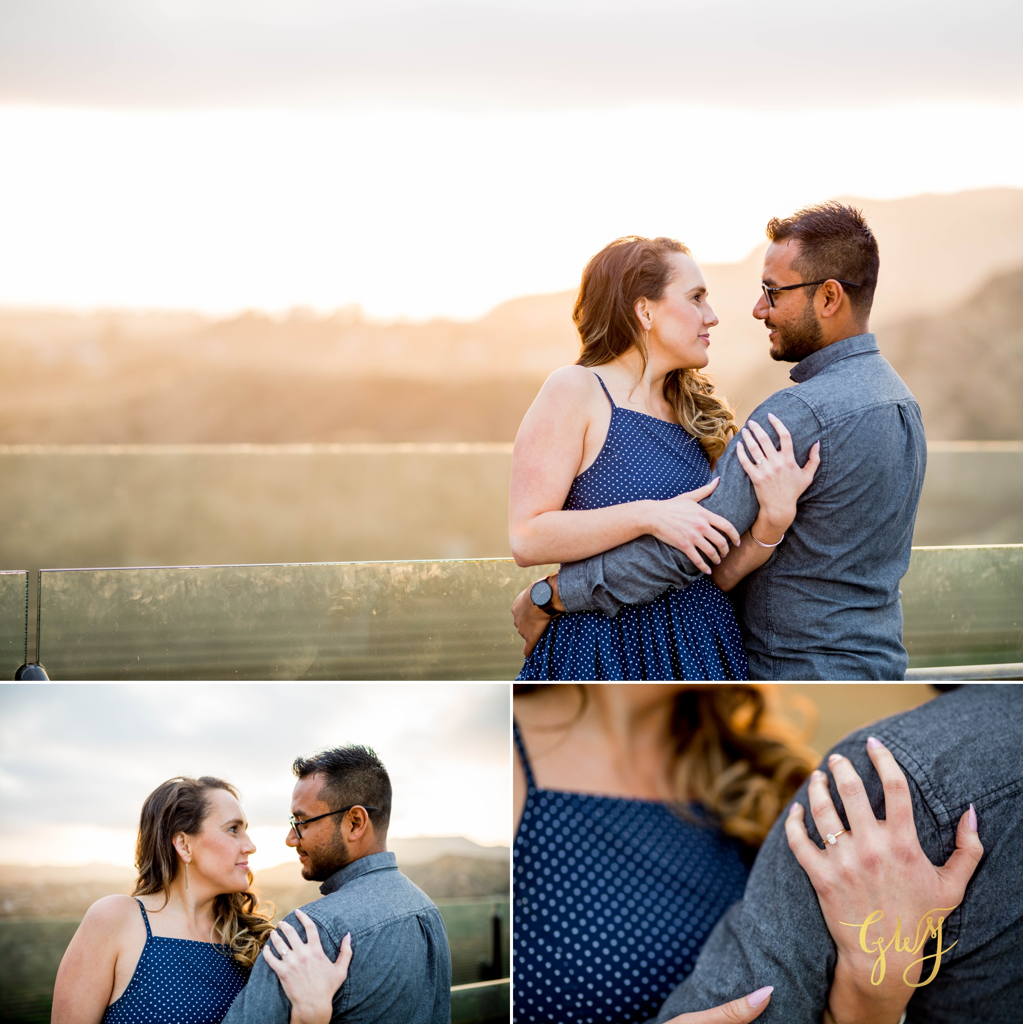 Emily + Gilbert's Griffith Observatory LA Dreamy Sunset Engagement Session by Glass Woods Media 16.jpg
