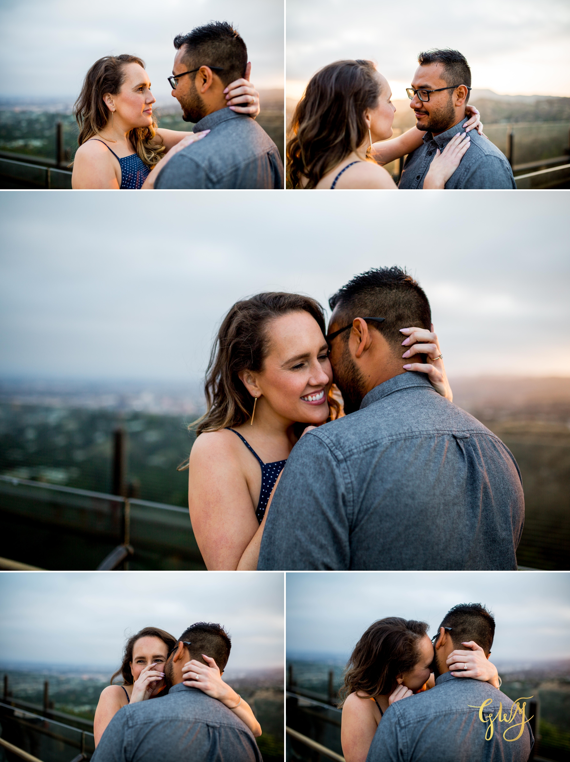 Emily + Gilbert's Griffith Observatory LA Dreamy Sunset Engagement Session by Glass Woods Media 17.jpg