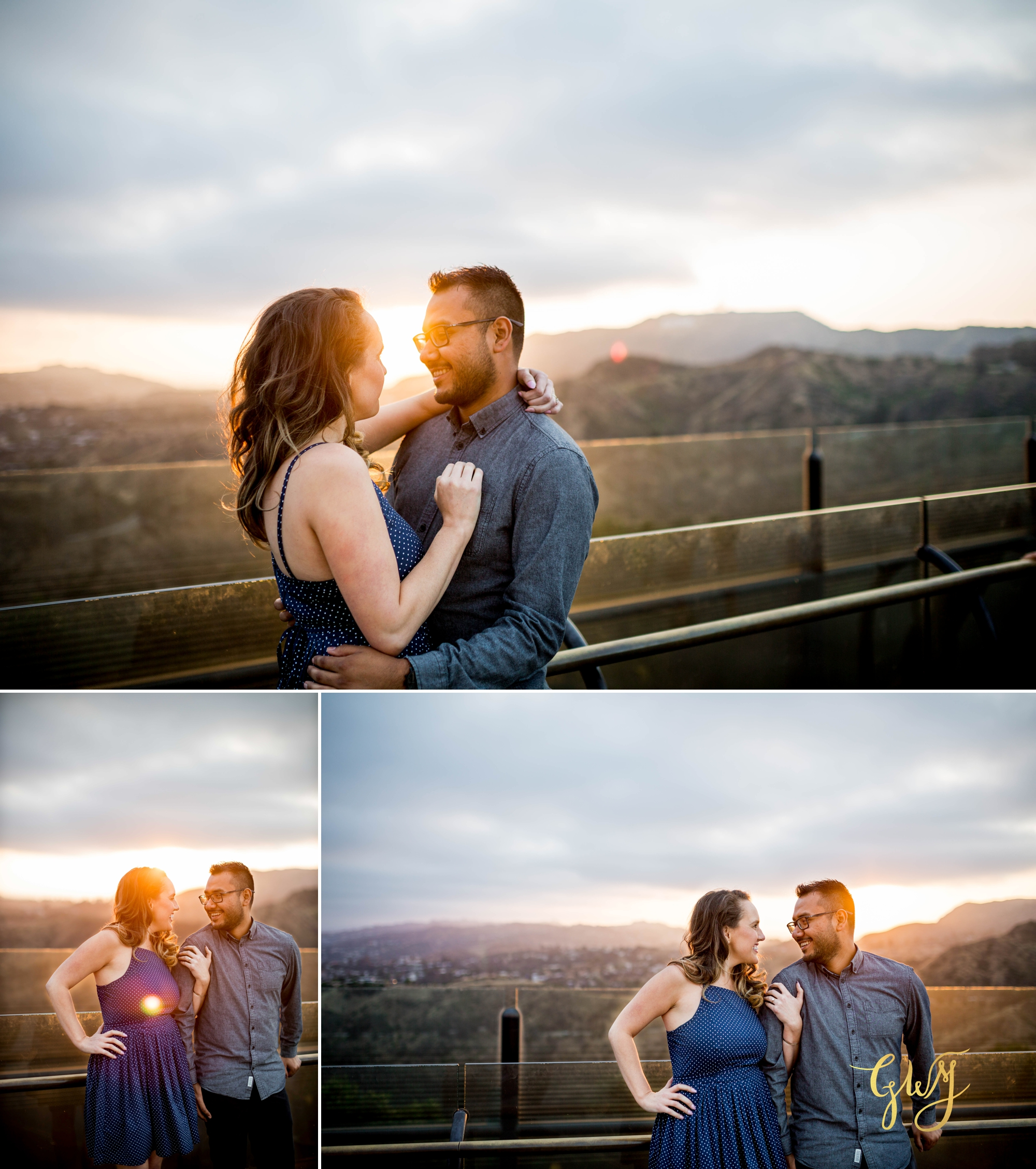 Emily + Gilbert's Griffith Observatory LA Dreamy Sunset Engagement Session by Glass Woods Media 18.jpg