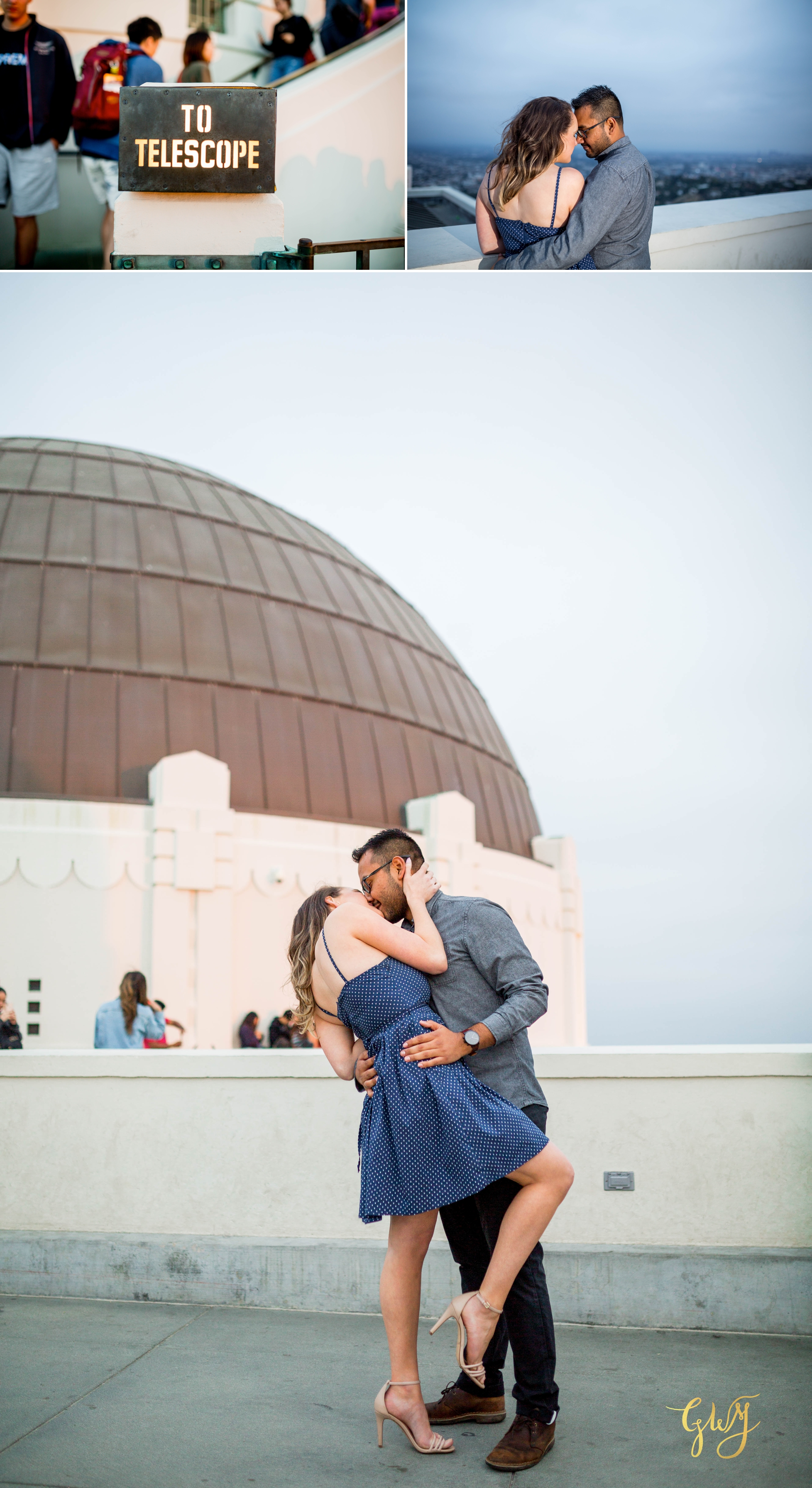 Emily + Gilbert's Griffith Observatory LA Dreamy Sunset Engagement Session by Glass Woods Media 19.jpg