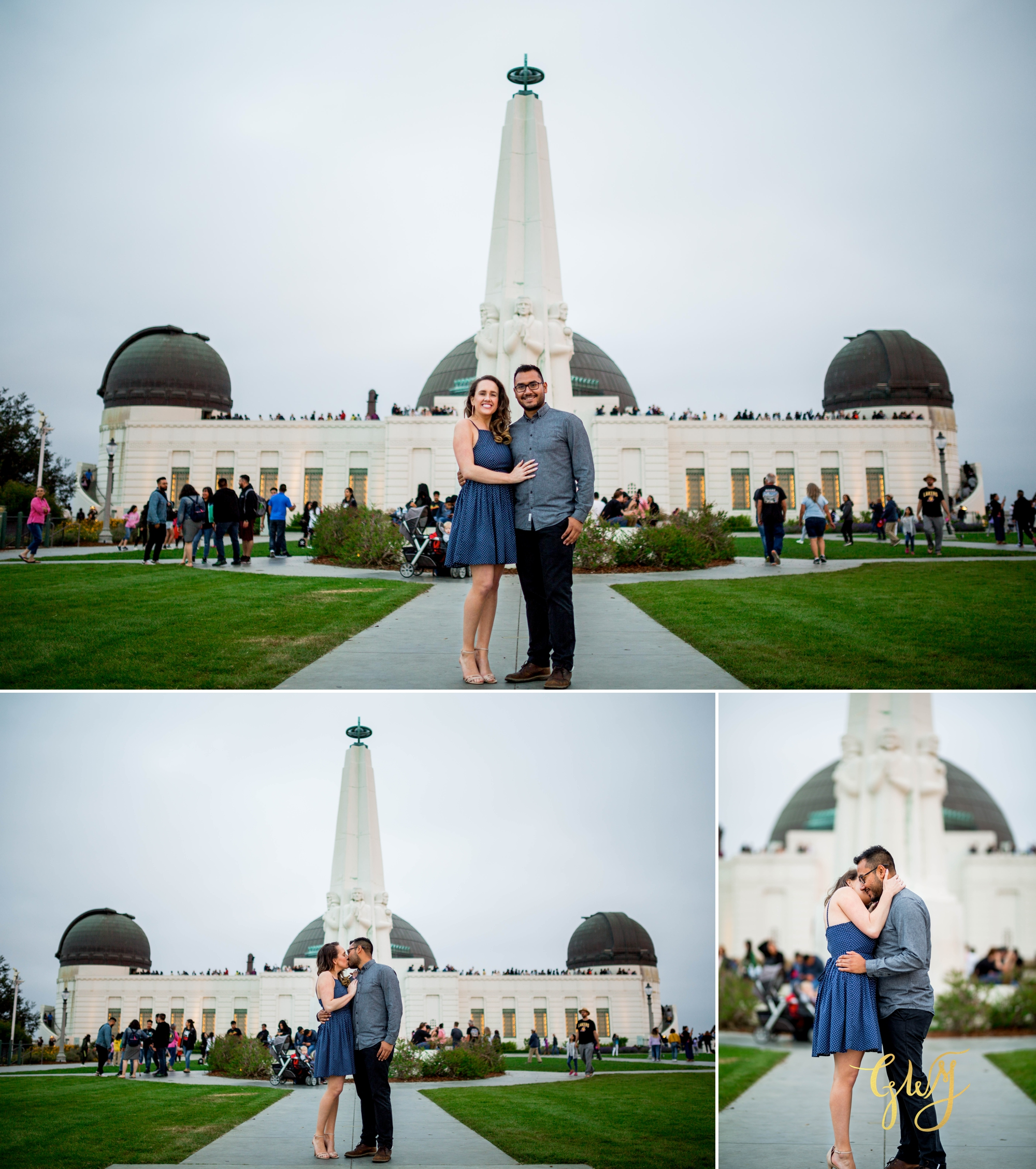 Emily + Gilbert's Griffith Observatory LA Dreamy Sunset Engagement Session by Glass Woods Media 20.jpg