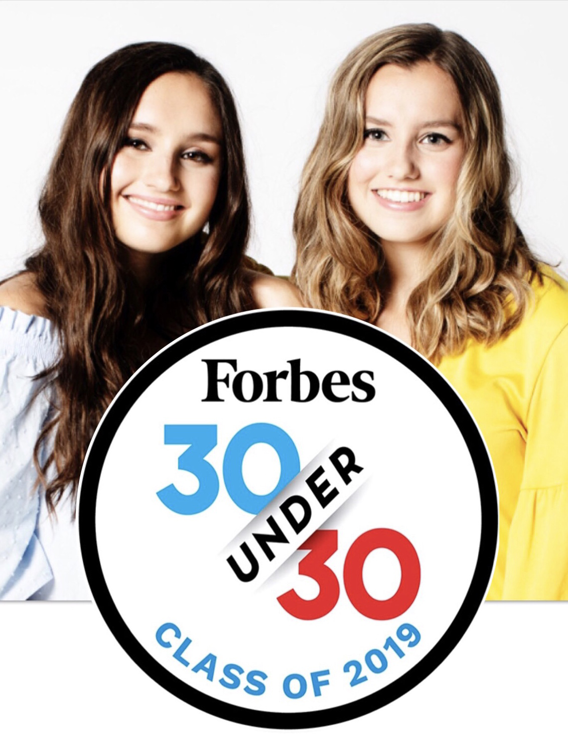 Da Bomb Bath Fizzers sisters Isabel and Caroliine Bercaw in Forbes 30 under 30 list. Links to the Forbes article.