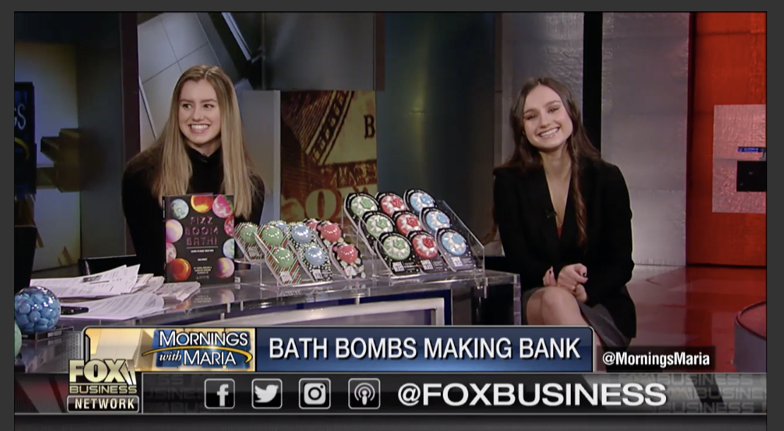 Teenage bath bomb creators of Da Bomb Bath Fizzers on fox business news.