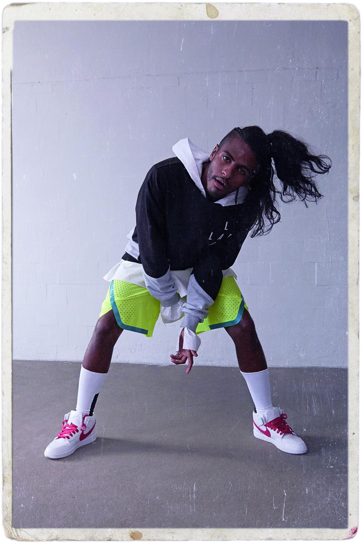 Rico Dalasam |look: LAB | tênis: NikeLab Dunk Lux Chukka x RT