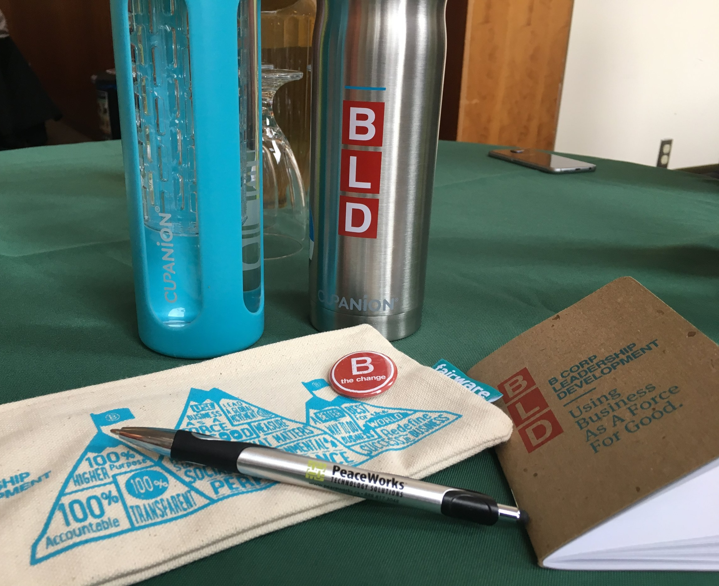 Fantastic swag from fellow B Corp companies