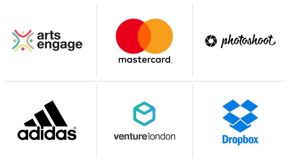 Pictured: Arts Engage, Mastercard, Photoshoot, Adidas, Venture London, Dropbox