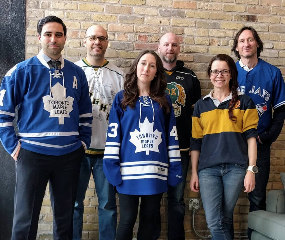 """Peter visited us on """"Wear your Jersey"""" Day"""