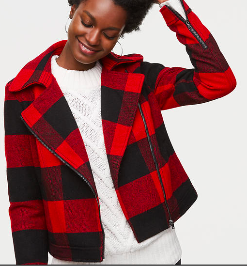 This Loft buffalo plaid jacket  is just too stinkin' cute! It's 50% off today!
