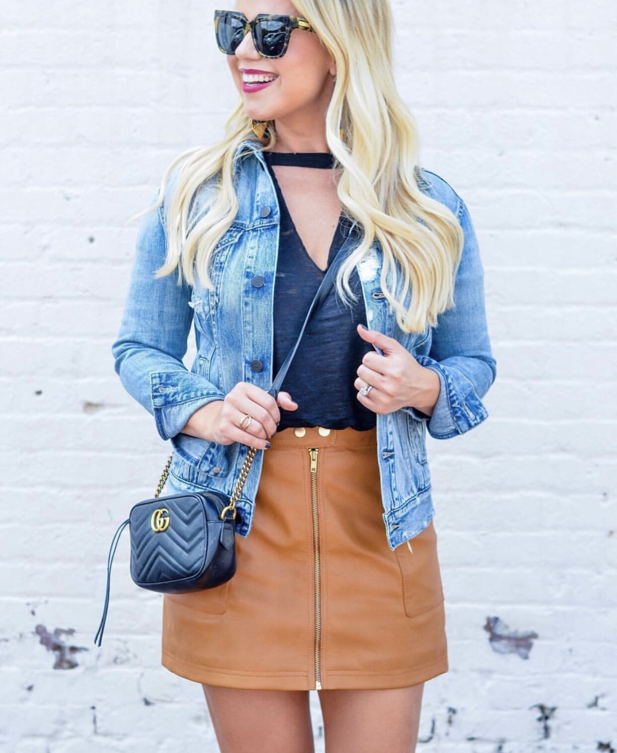 "A denim jacket is the ideal way to carry an outfit through into the fall when the temps dip and there is a chill in the air. It ties an outfit together and makes you look ""finished."" Read on as I sing the praises of the denim jacket for quite a few reasons and show you several examples of how to wear it!"