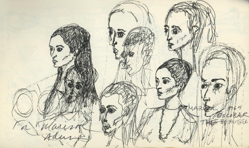 Portraits of Marisol Escobar The Beautiful, 1969