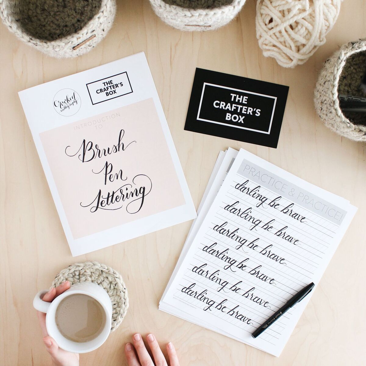The Crafter's Box - Brush Pen Lettering // Darling Be Brave